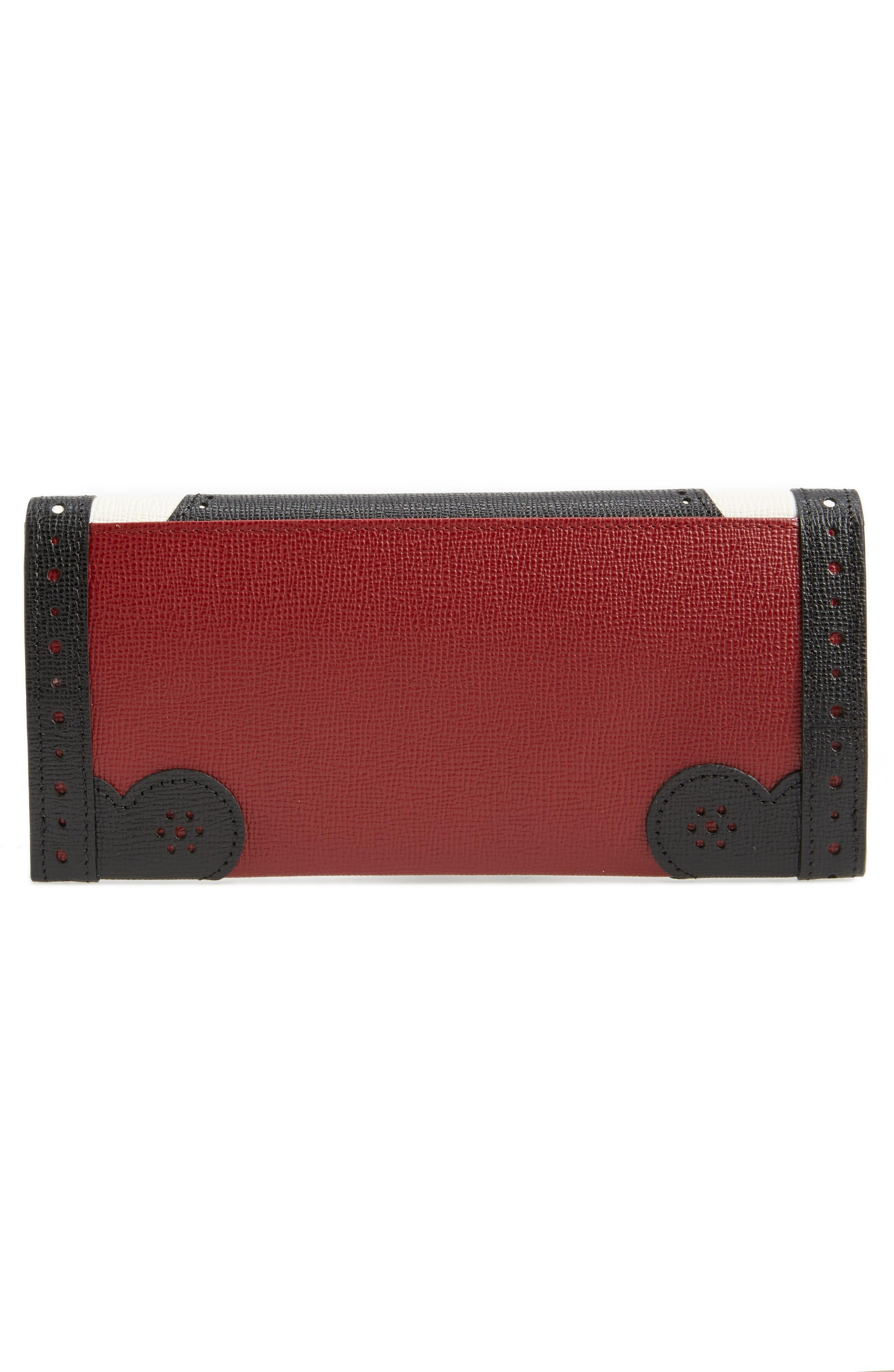 Effrontée Leather Wallet,                             Alternate thumbnail 3, color,