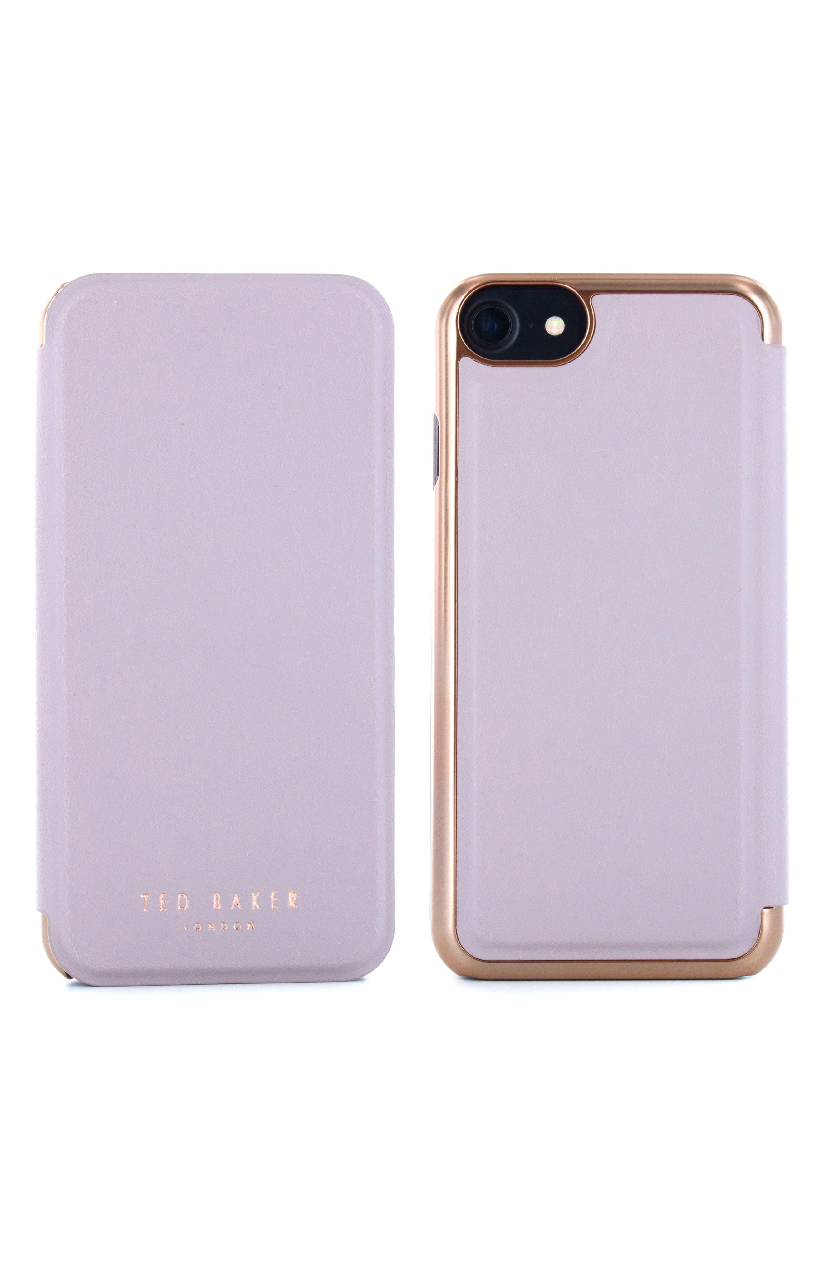 Shannon iPhone 6/6s/7/8 & 6/6s/7/8 Plus Mirror Folio Case,                             Main thumbnail 1, color,                             530