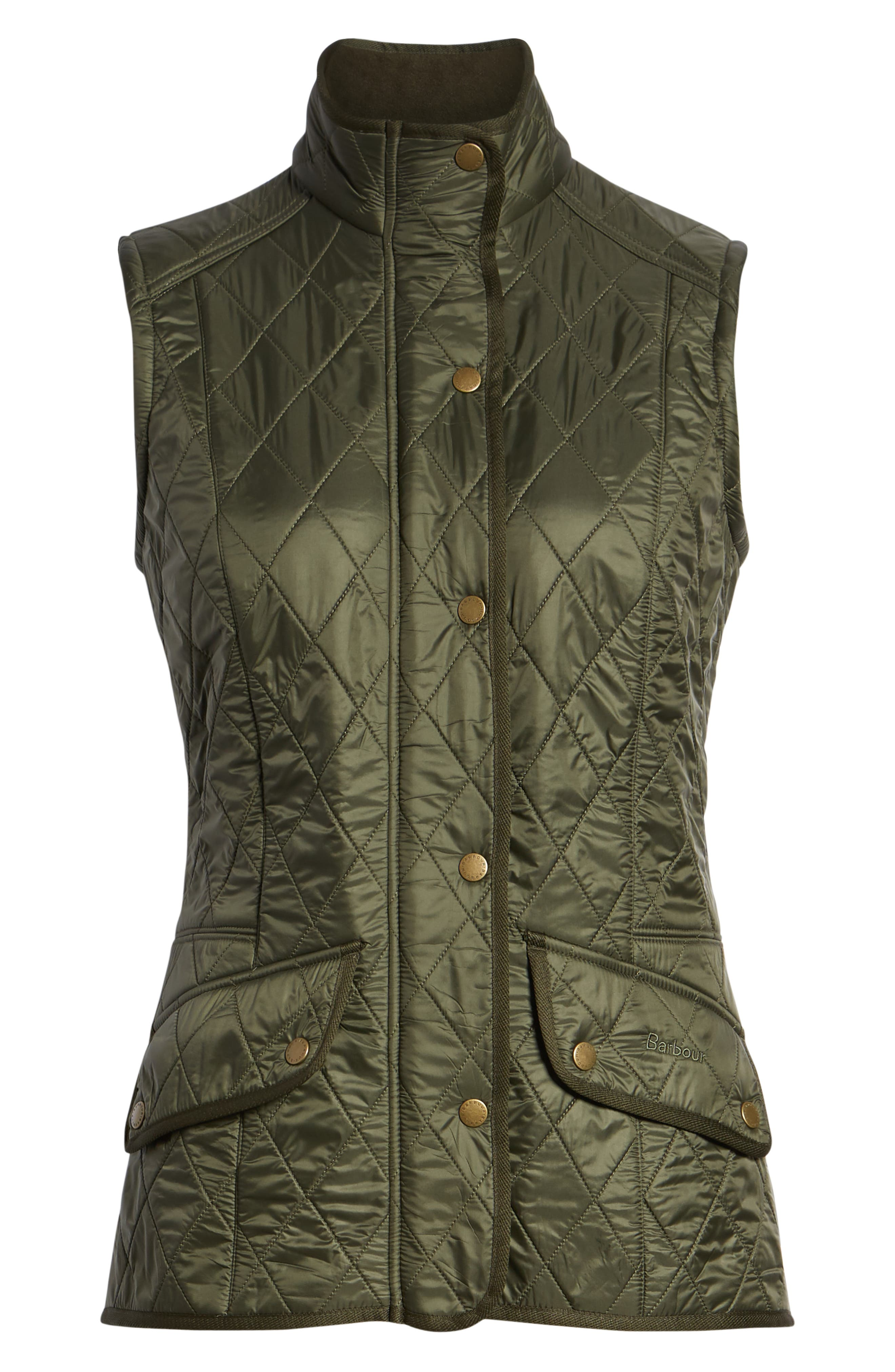'Cavalry' Quilted Vest,                             Alternate thumbnail 6, color,                             OLIVE/ OLIVE