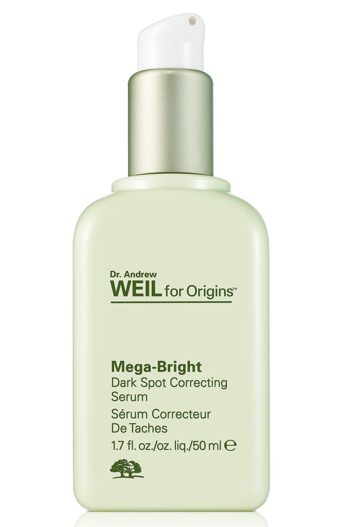 Dr. Andrew Weil for Origins<sup>™</sup> Mega-Bright Dark Spot Correction Serum,                             Main thumbnail 1, color,                             NO COLOR