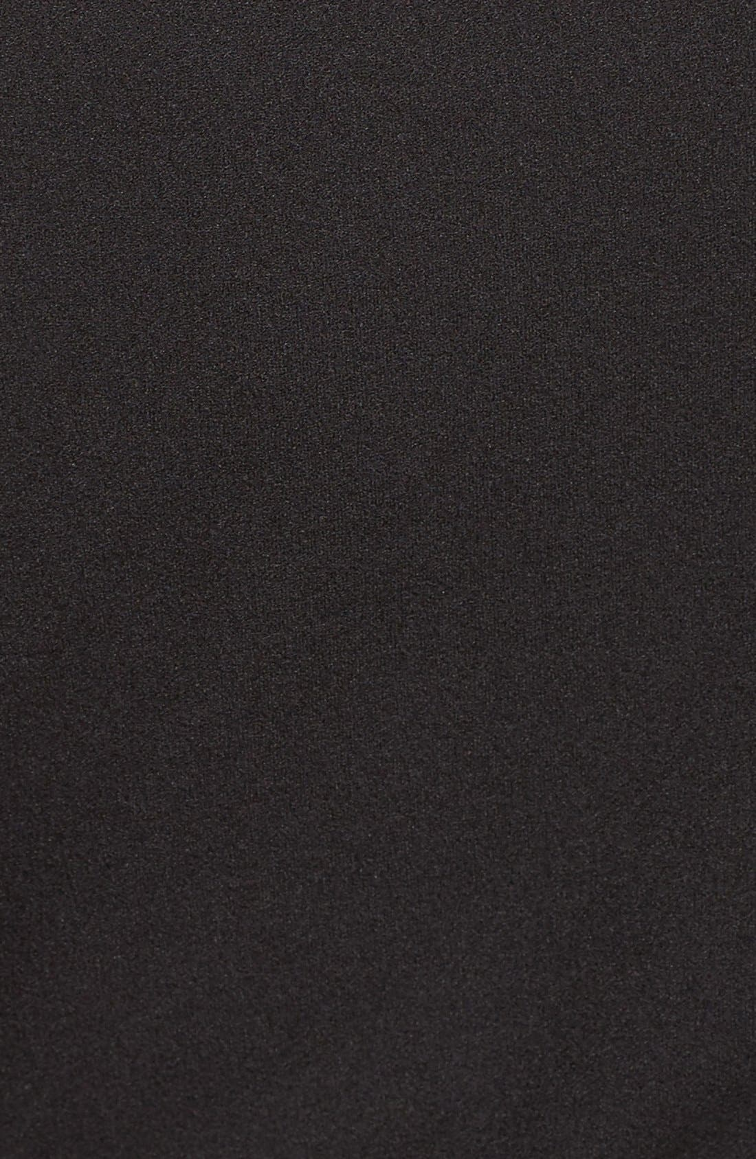 Off the Shoulder Scuba Sheath Dress,                             Alternate thumbnail 4, color,                             001