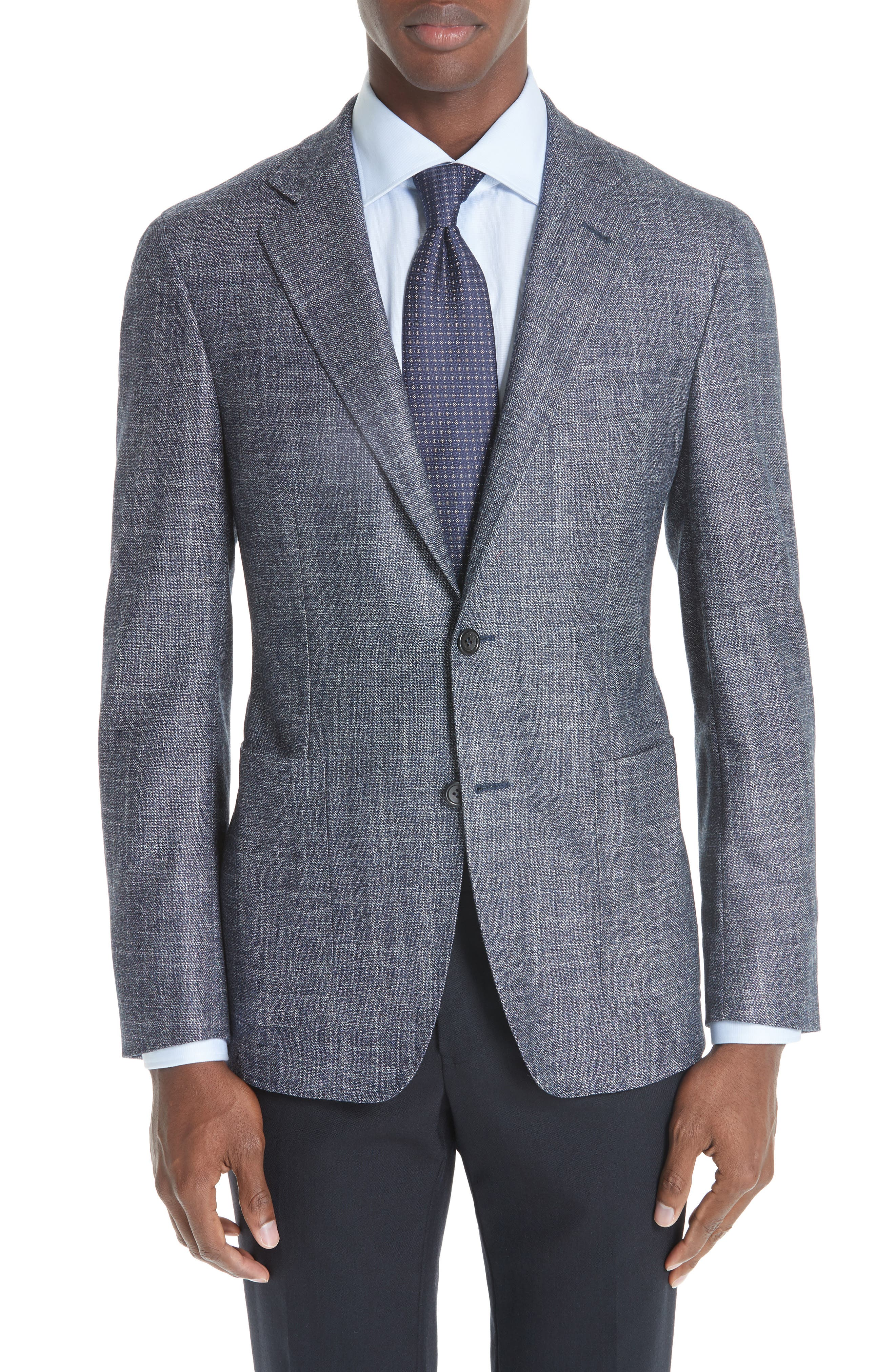 Kei Classic Fit Wool Blend Blazer,                             Main thumbnail 1, color,                             NAVY