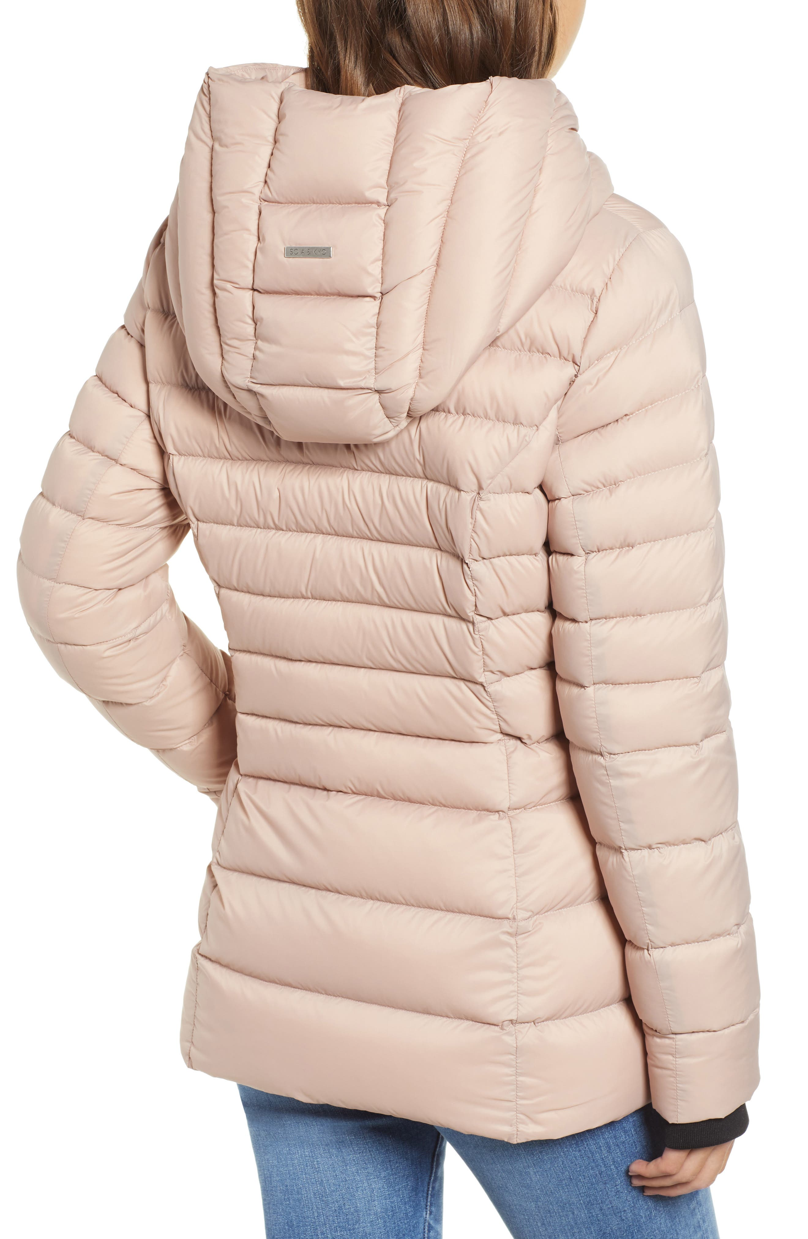 Hooded Down Puffer Jacket,                             Alternate thumbnail 2, color,                             QUARTZ