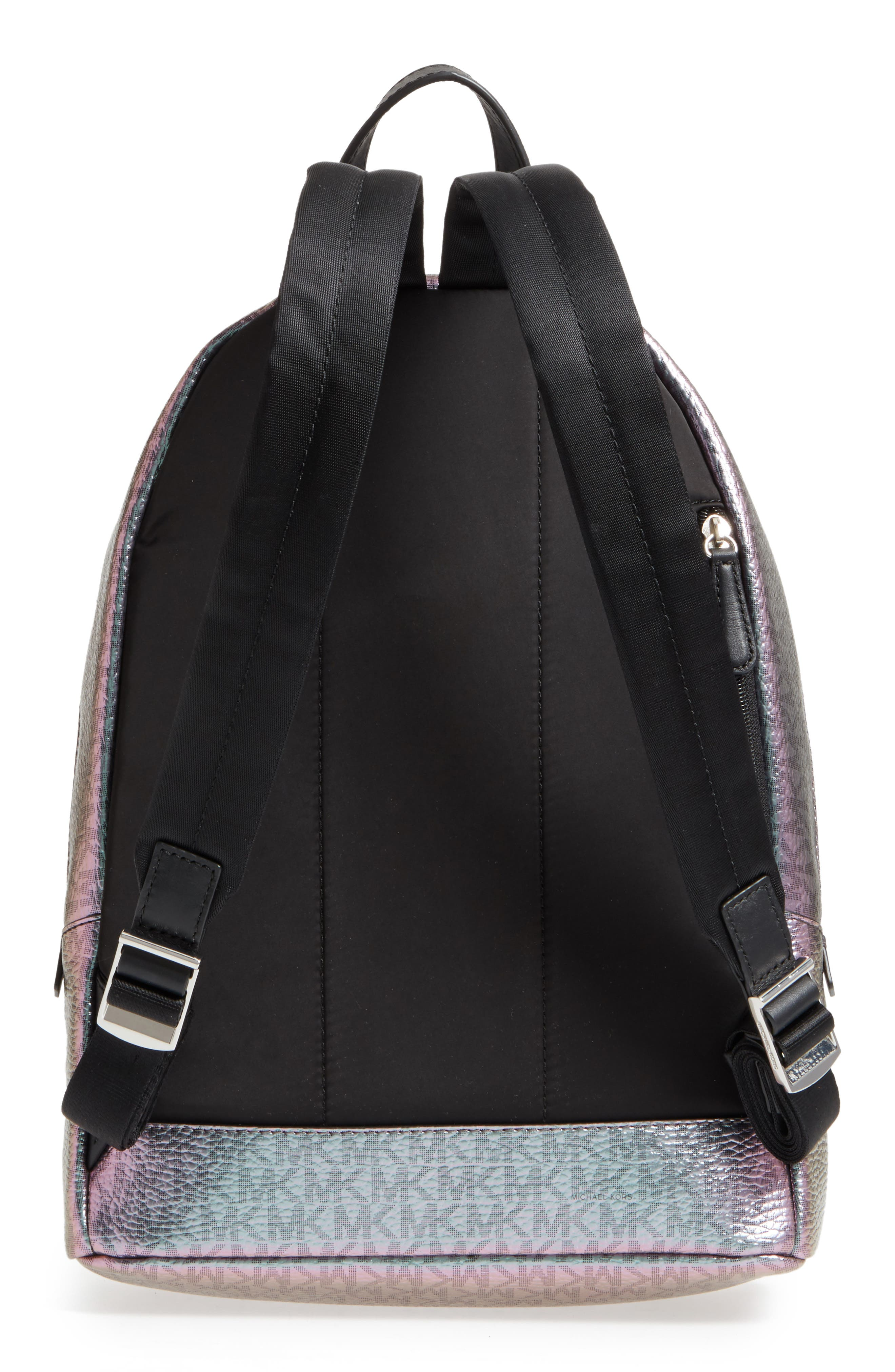 MICHAEL Michael Kors Wythe Large Faux Leather Backpack,                             Alternate thumbnail 3, color,                             400