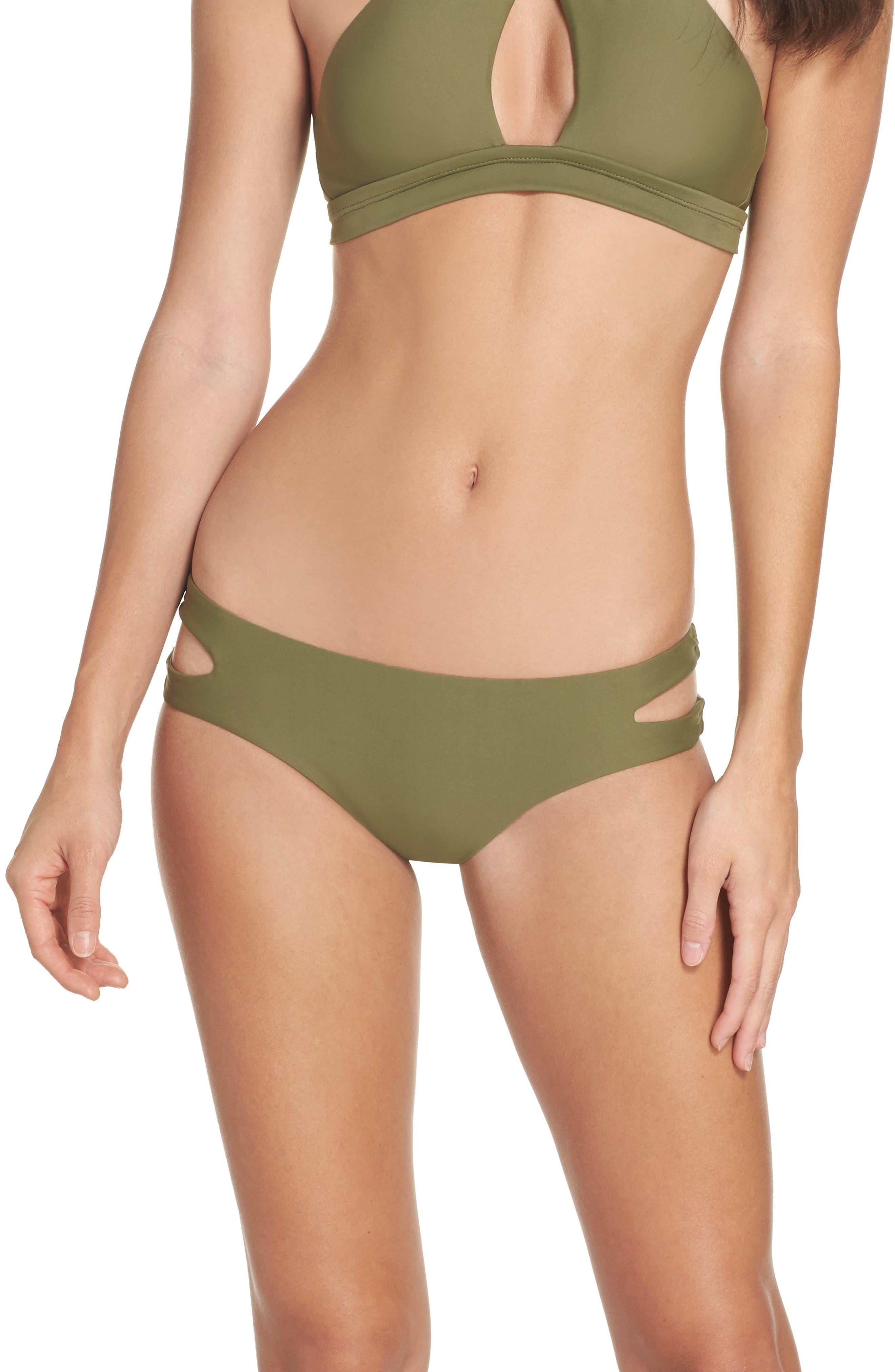 Cutout Hipster Bikini Bottoms,                         Main,                         color,