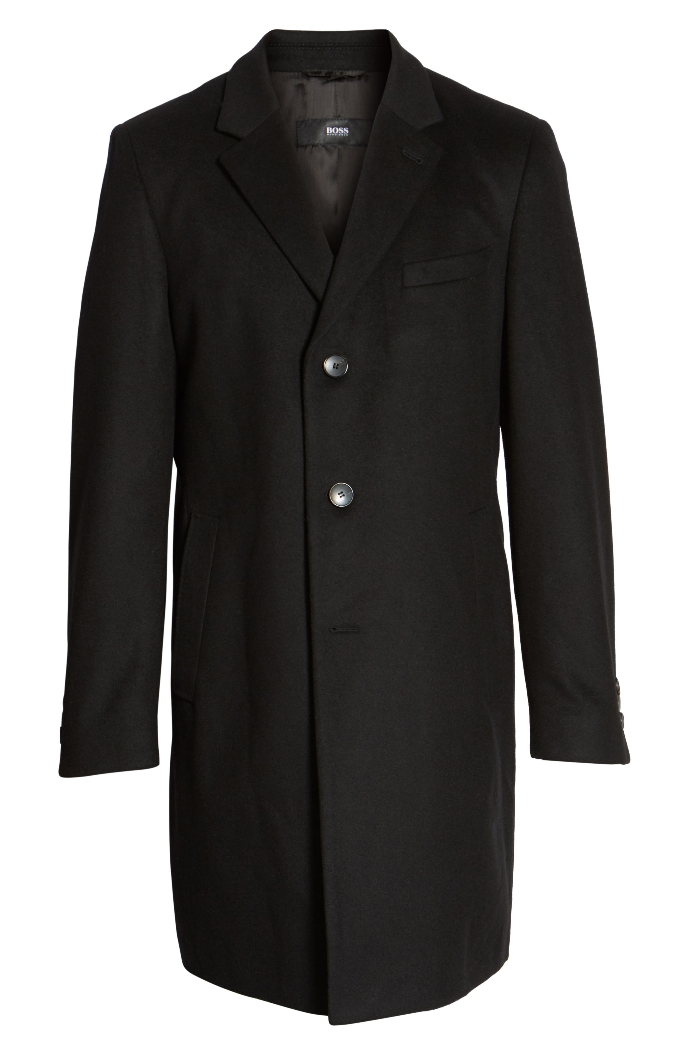 Nye Wool & Cashmere Topcoat,                             Alternate thumbnail 5, color,                             001