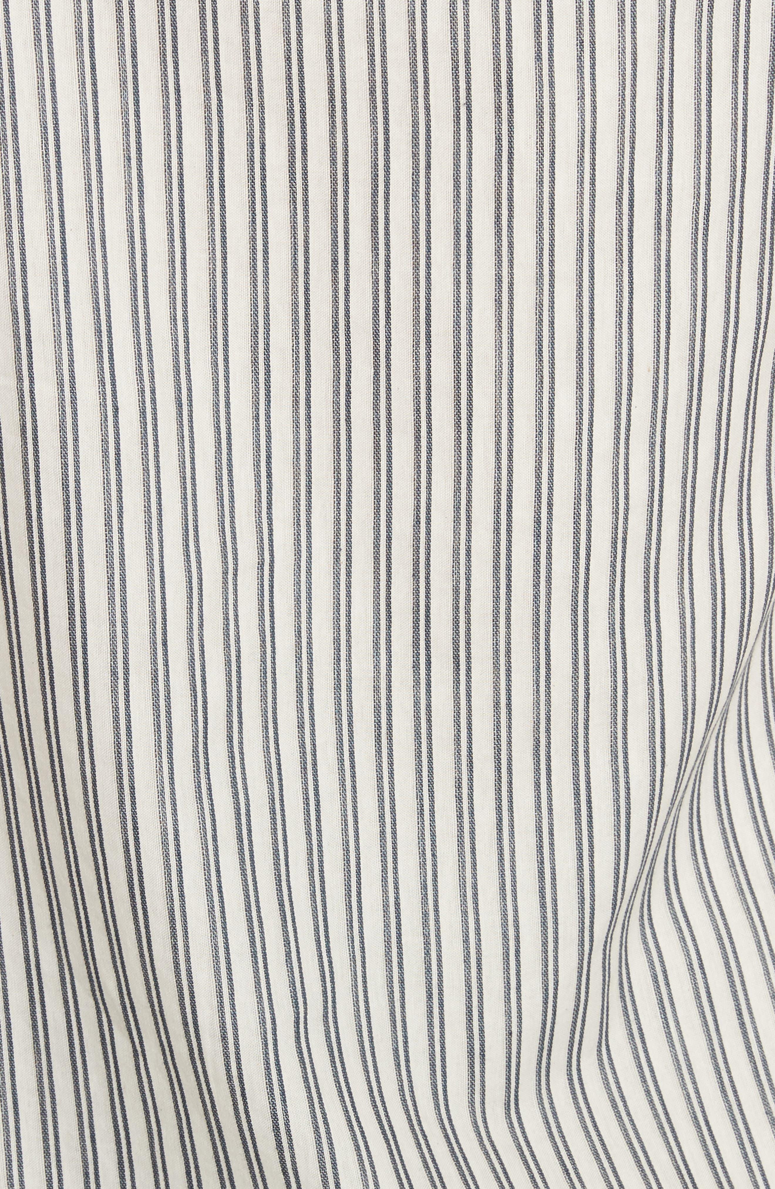 Stripe Tie Cuff One-Shoulder Top,                             Alternate thumbnail 5, color,                             900