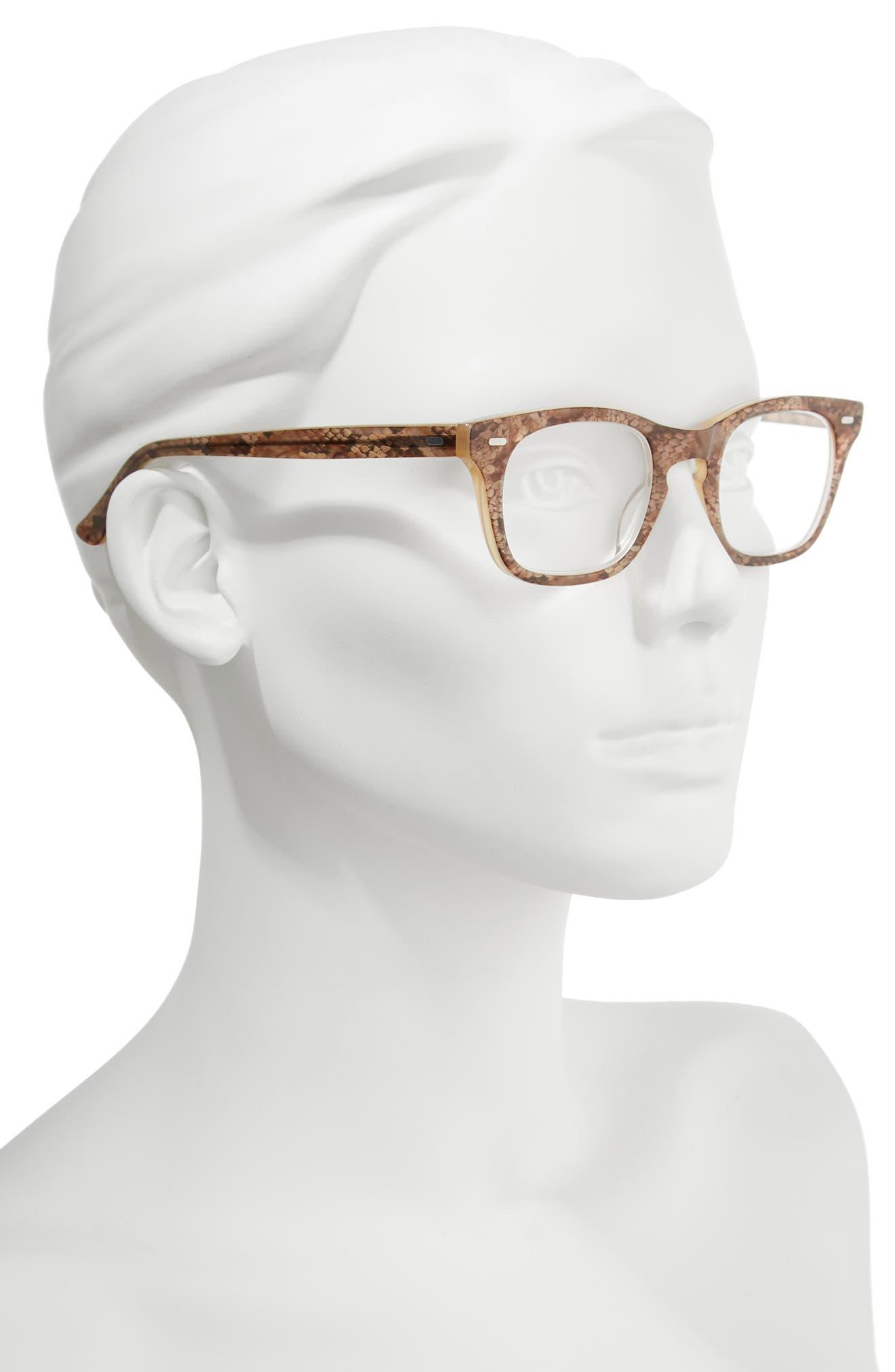 'Toni' 48mm Reading Glasses,                             Alternate thumbnail 2, color,                             BROWN SNAKE