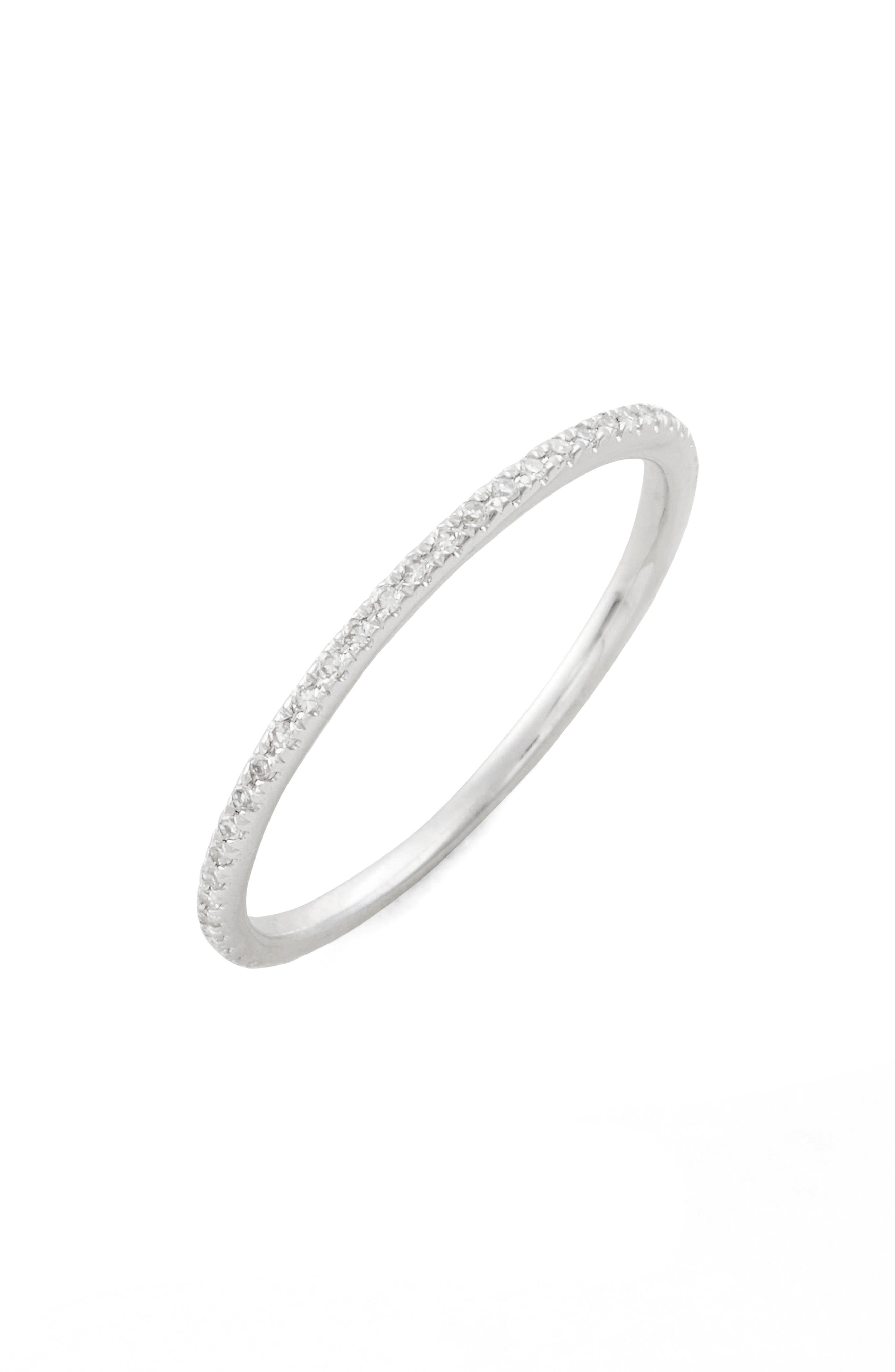 Two-Tone Diamond Stack Ring,                         Main,                         color, WHITE GOLD