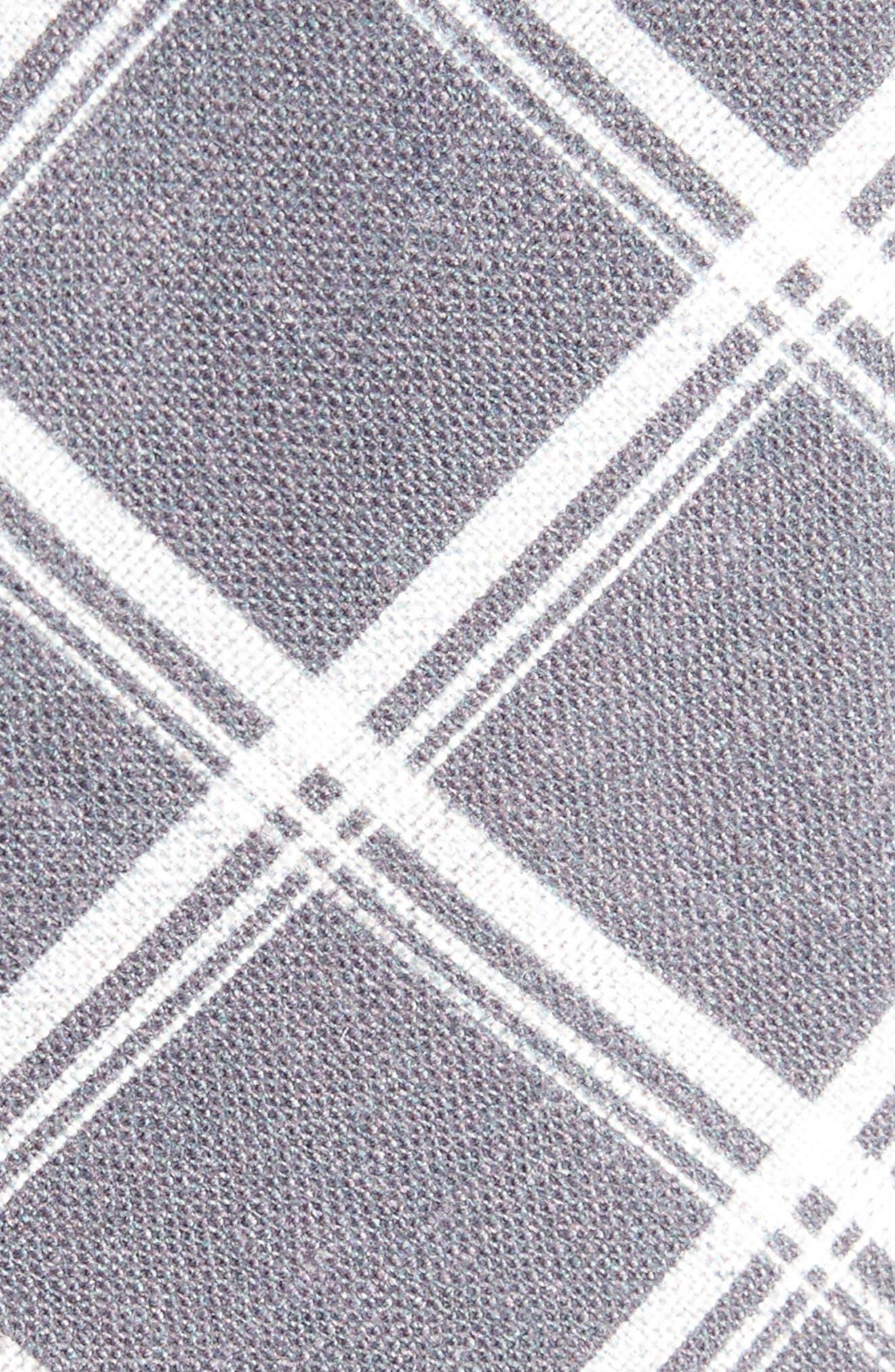 Jet Plaid Linen Skinny Tie,                             Alternate thumbnail 3, color,