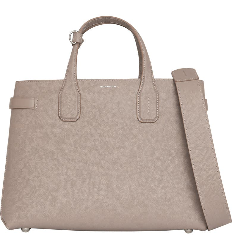 1e39802911ef Burberry Banner Medium Derby Leather Tote Bag In Taupe Brown