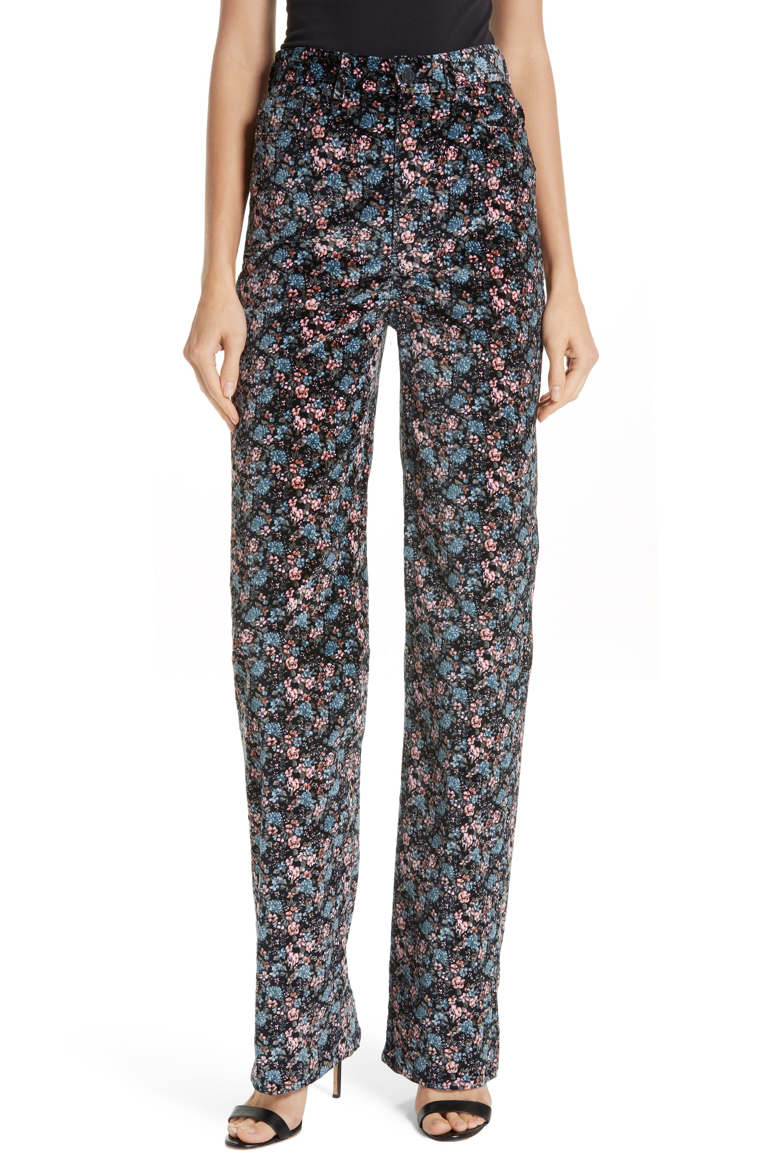 Lisette Velveteen Pants, Main, color, 014