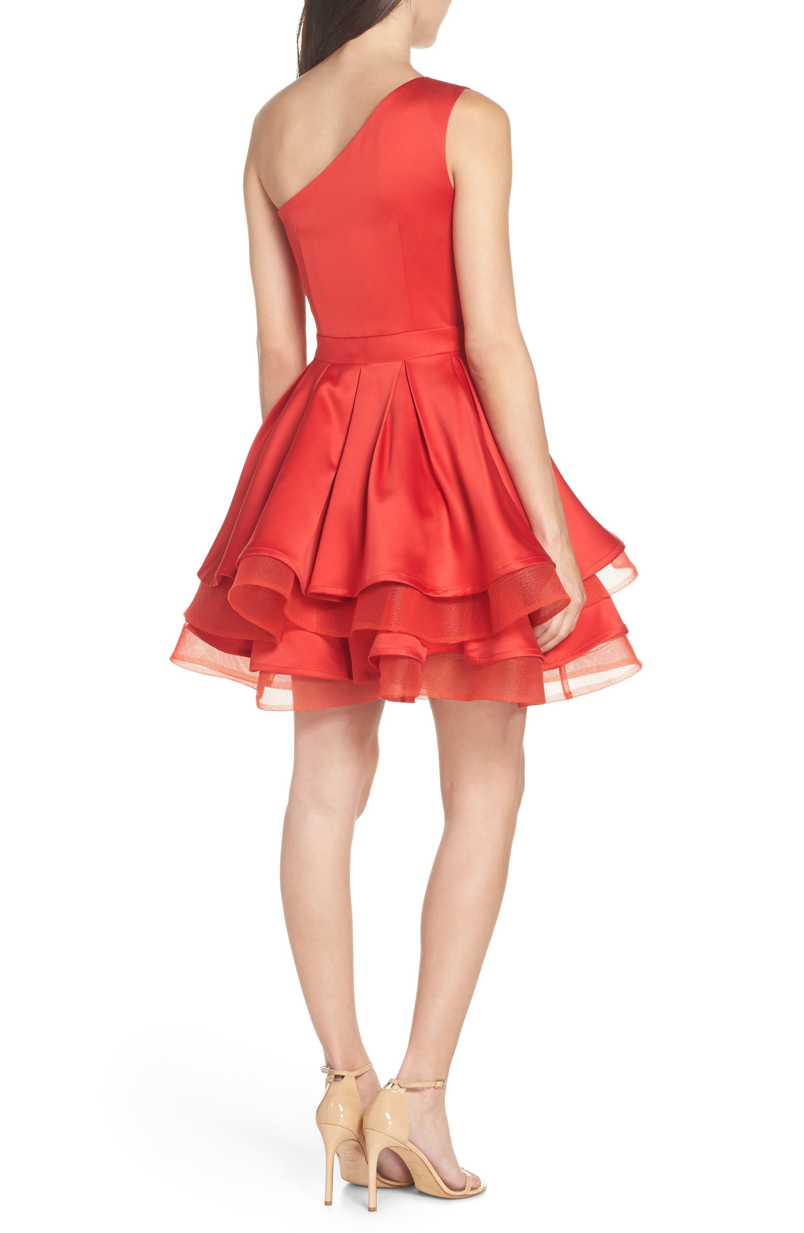 Emmanuel One-Shoulder Party Dress,                             Alternate thumbnail 2, color,                             600