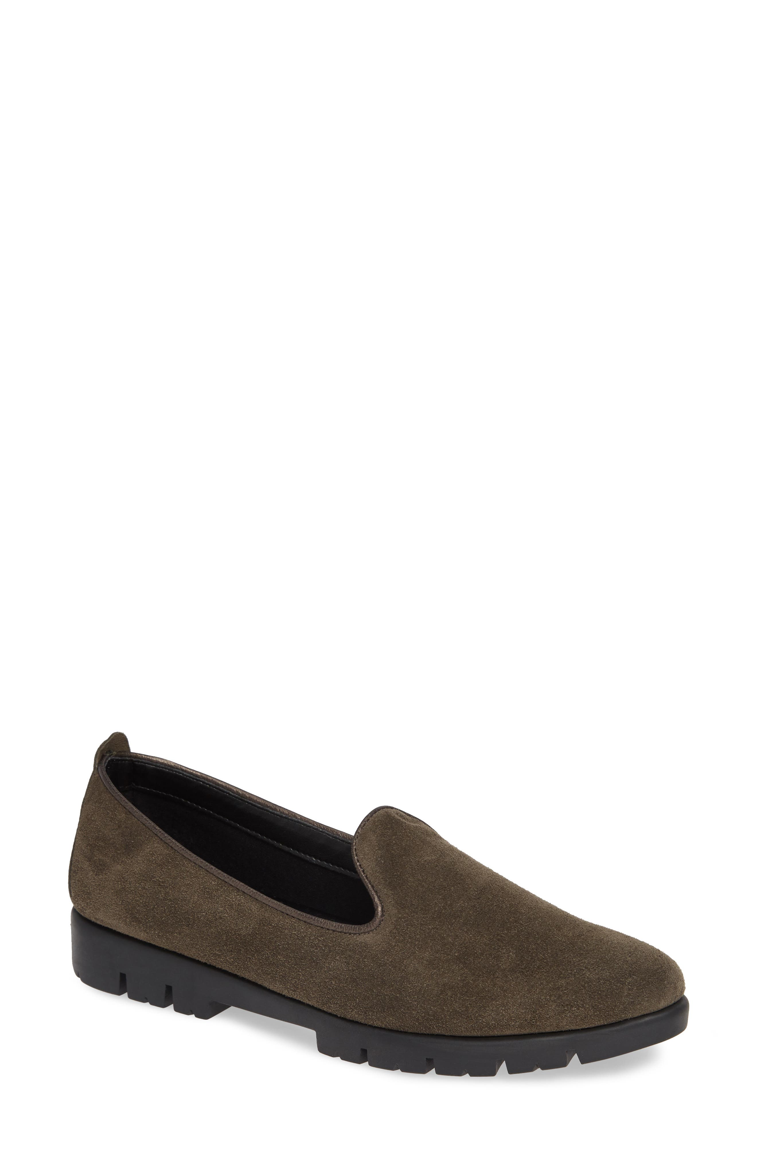 Smokin' Hot Plush Loafer,                             Main thumbnail 1, color,                             BROWN SUEDE