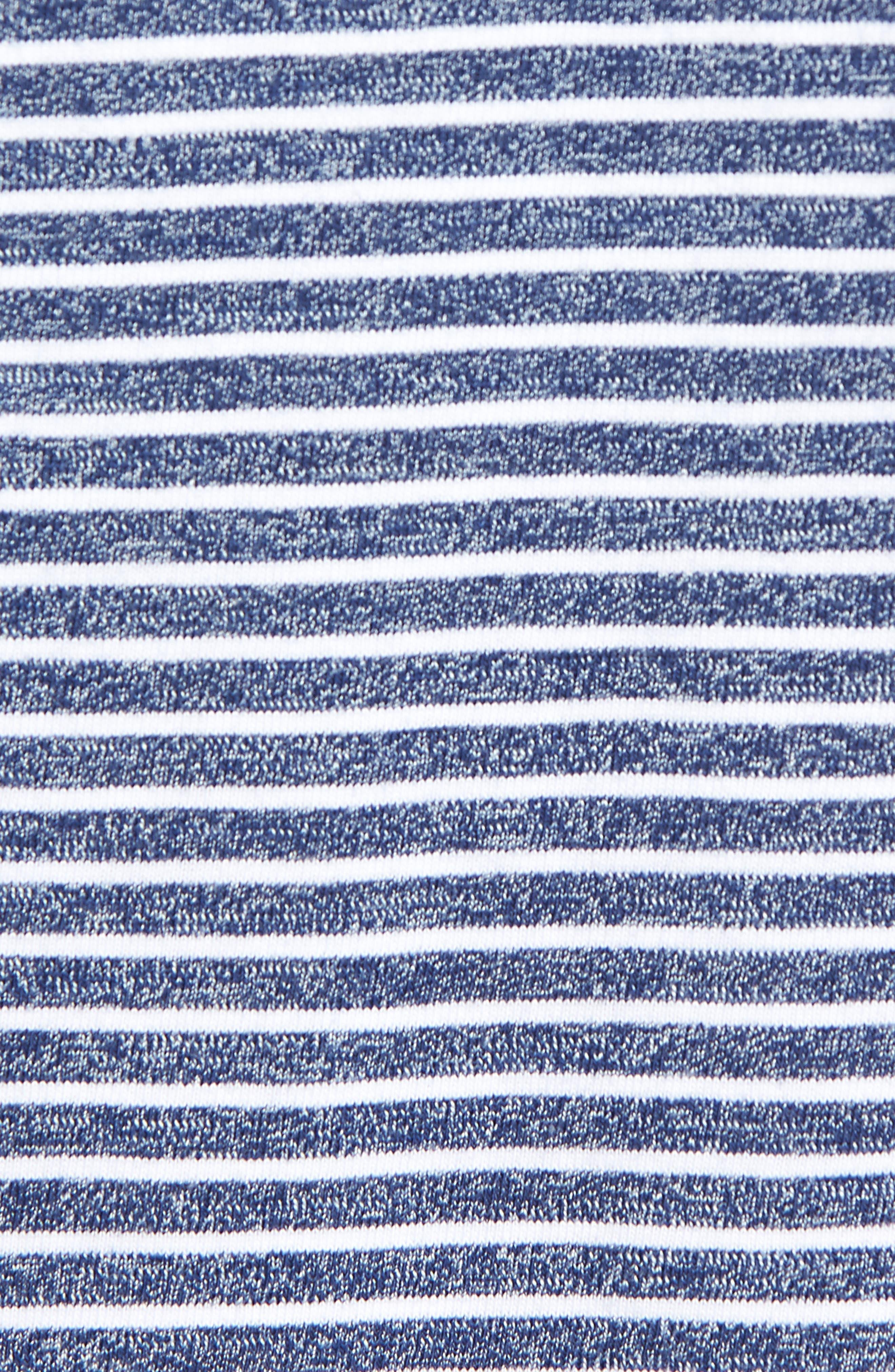 Yarn Dyed Stripe T-Shirt,                             Alternate thumbnail 5, color,                             410