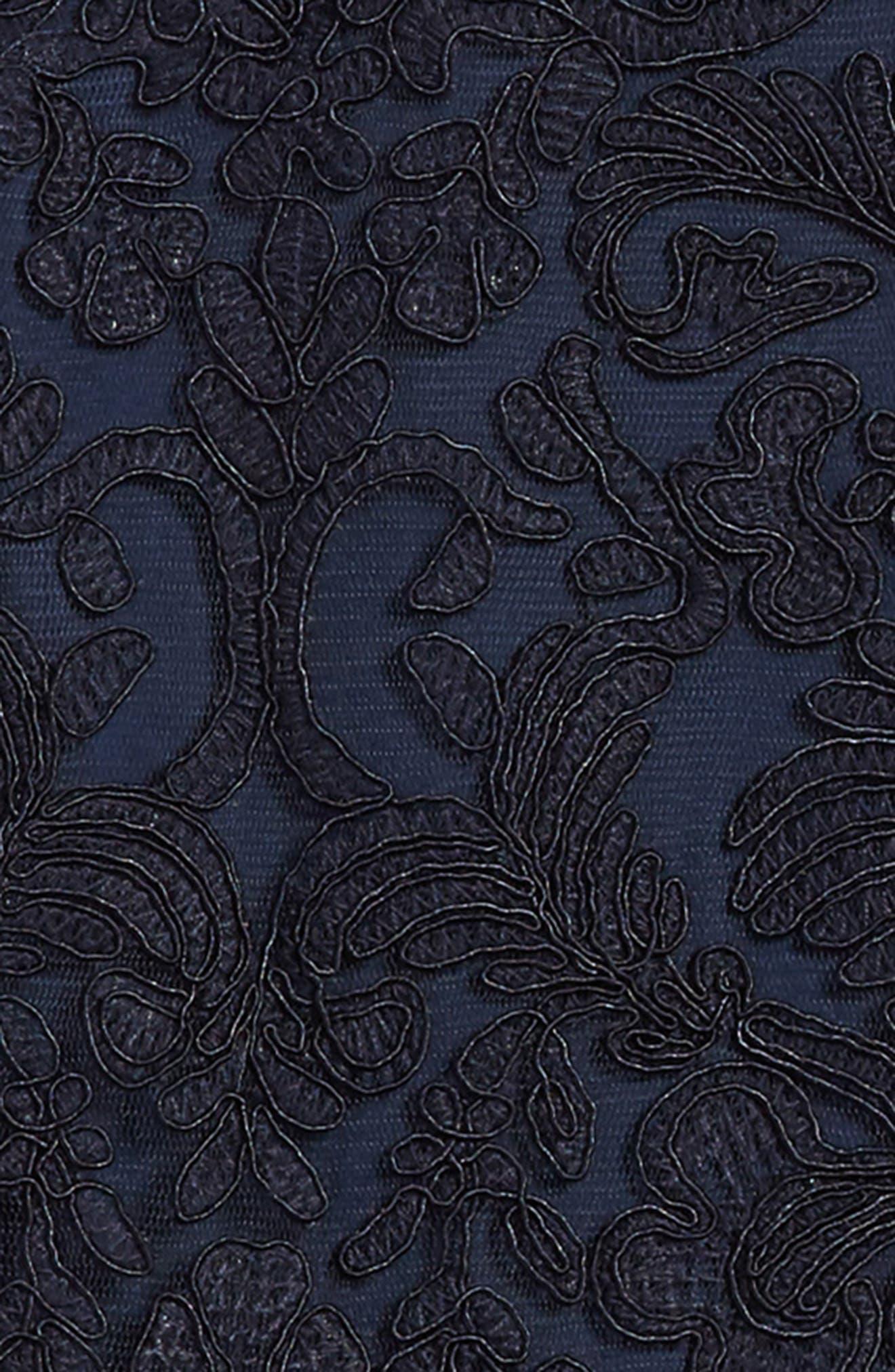 'Honeysuckle' Embroidered Tulle Dress,                             Alternate thumbnail 3, color,                             415
