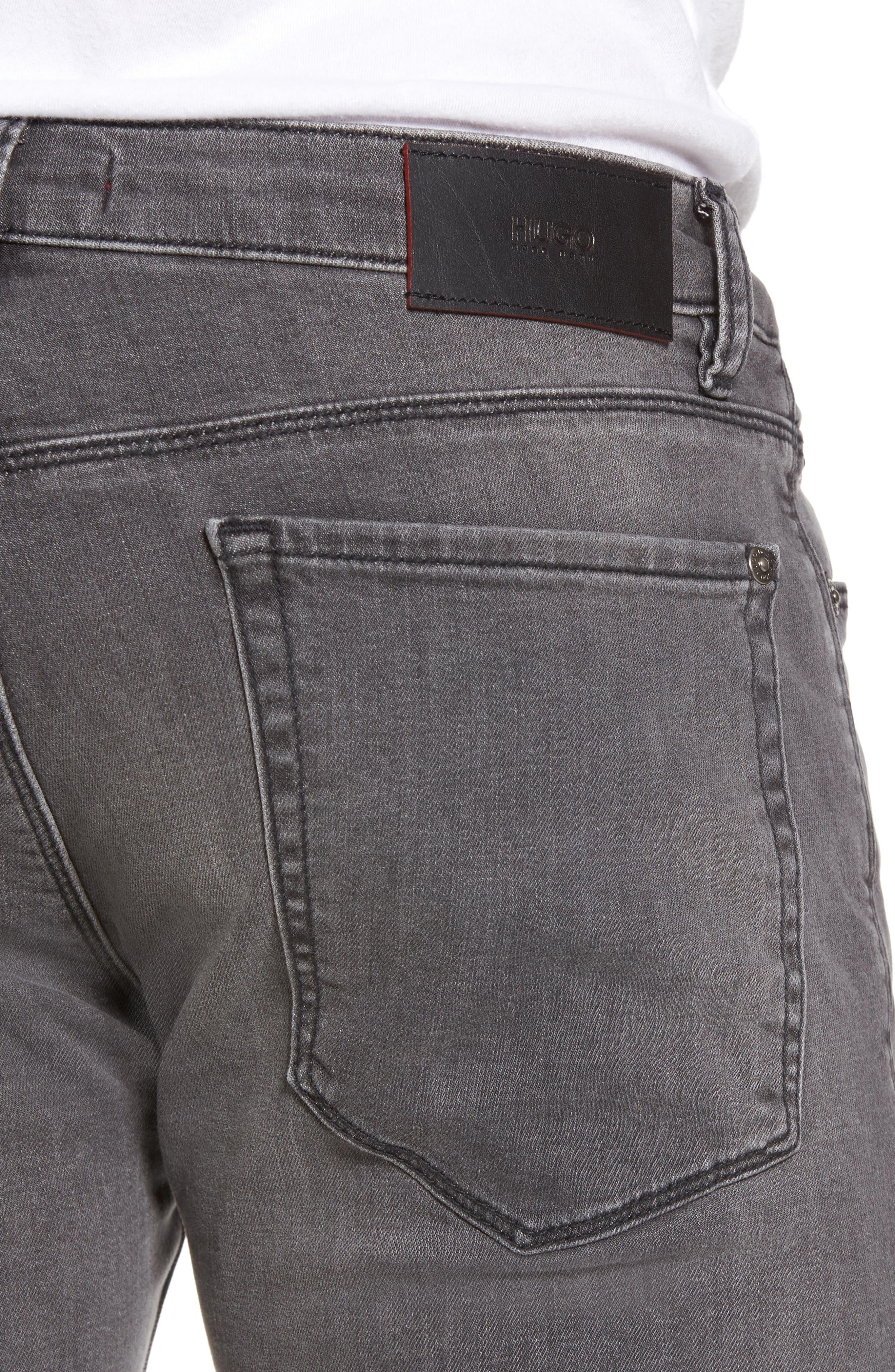 Hugo Boss 708 Stonewash Denim Jeans,                             Alternate thumbnail 4, color,                             021