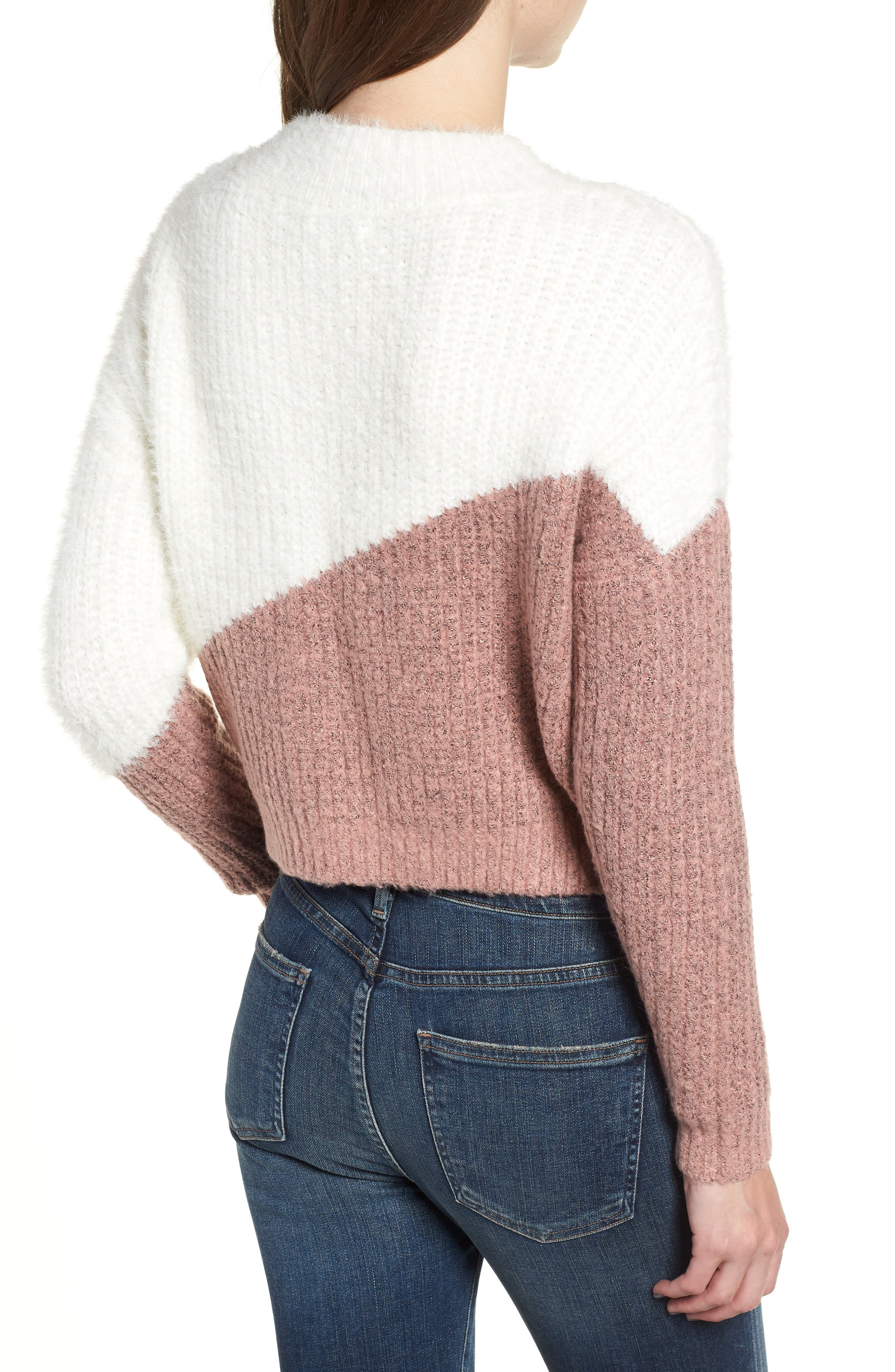 BISHOP + YOUNG,                             Diagonal Colorblock Sweater,                             Alternate thumbnail 2, color,                             650