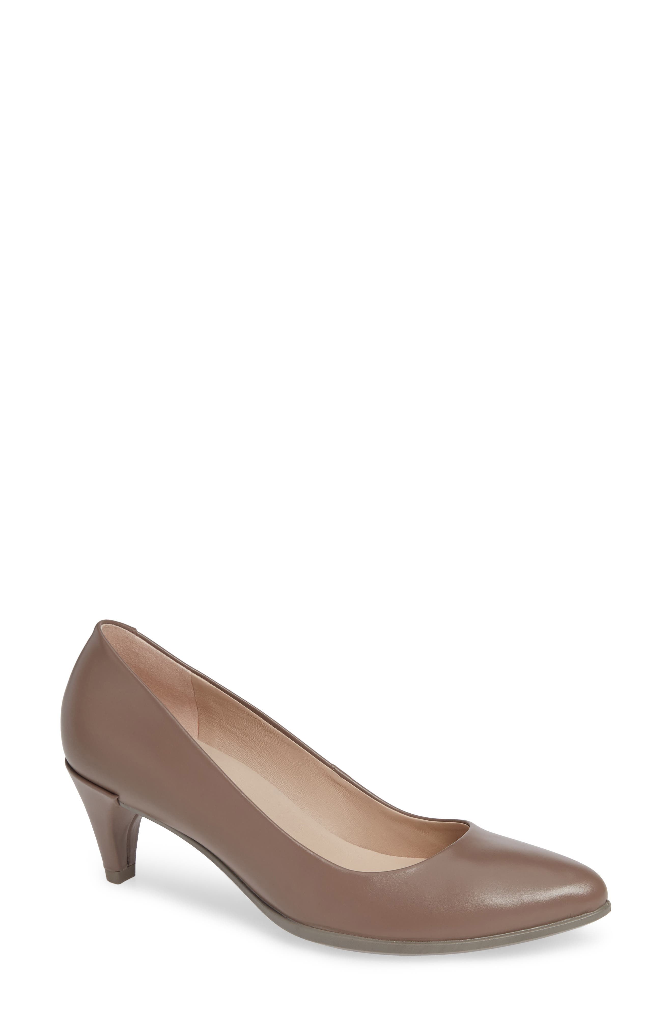 Shape 45 Pump,                         Main,                         color, DEEP TAUPE LEATHER