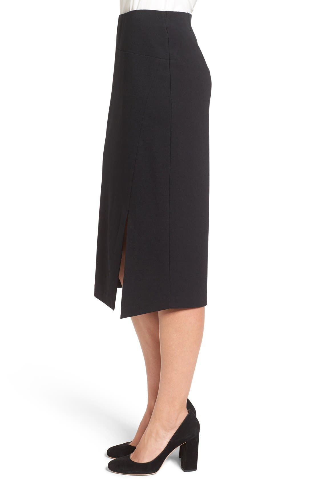 Slit Pencil Skirt,                             Alternate thumbnail 3, color,                             006