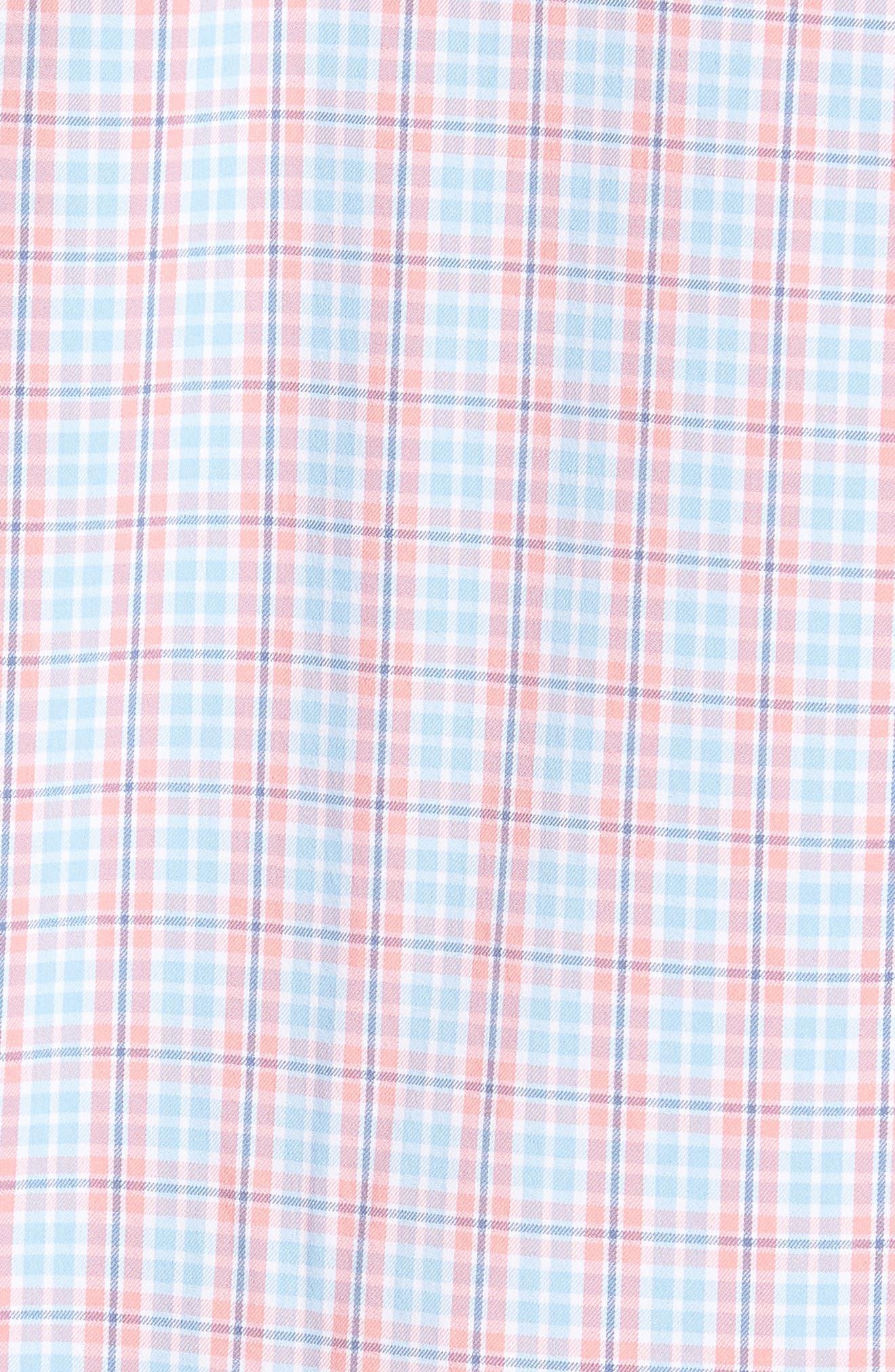 Nautical Mile Regular Fit Plaid Performance Sport Shirt,                             Alternate thumbnail 10, color,