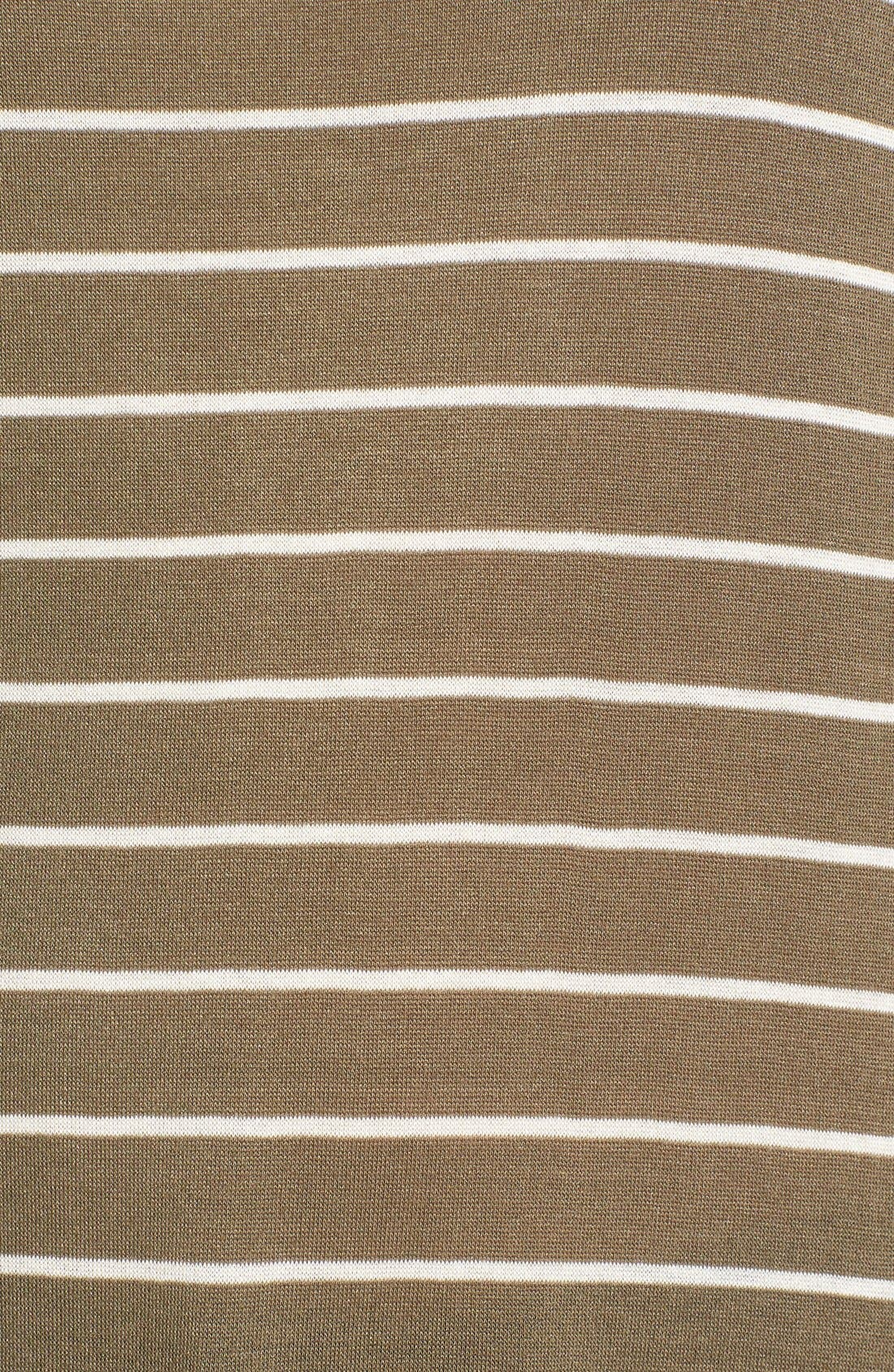Stripe Long Sleeve Crewneck Tee,                             Alternate thumbnail 5, color,                             315