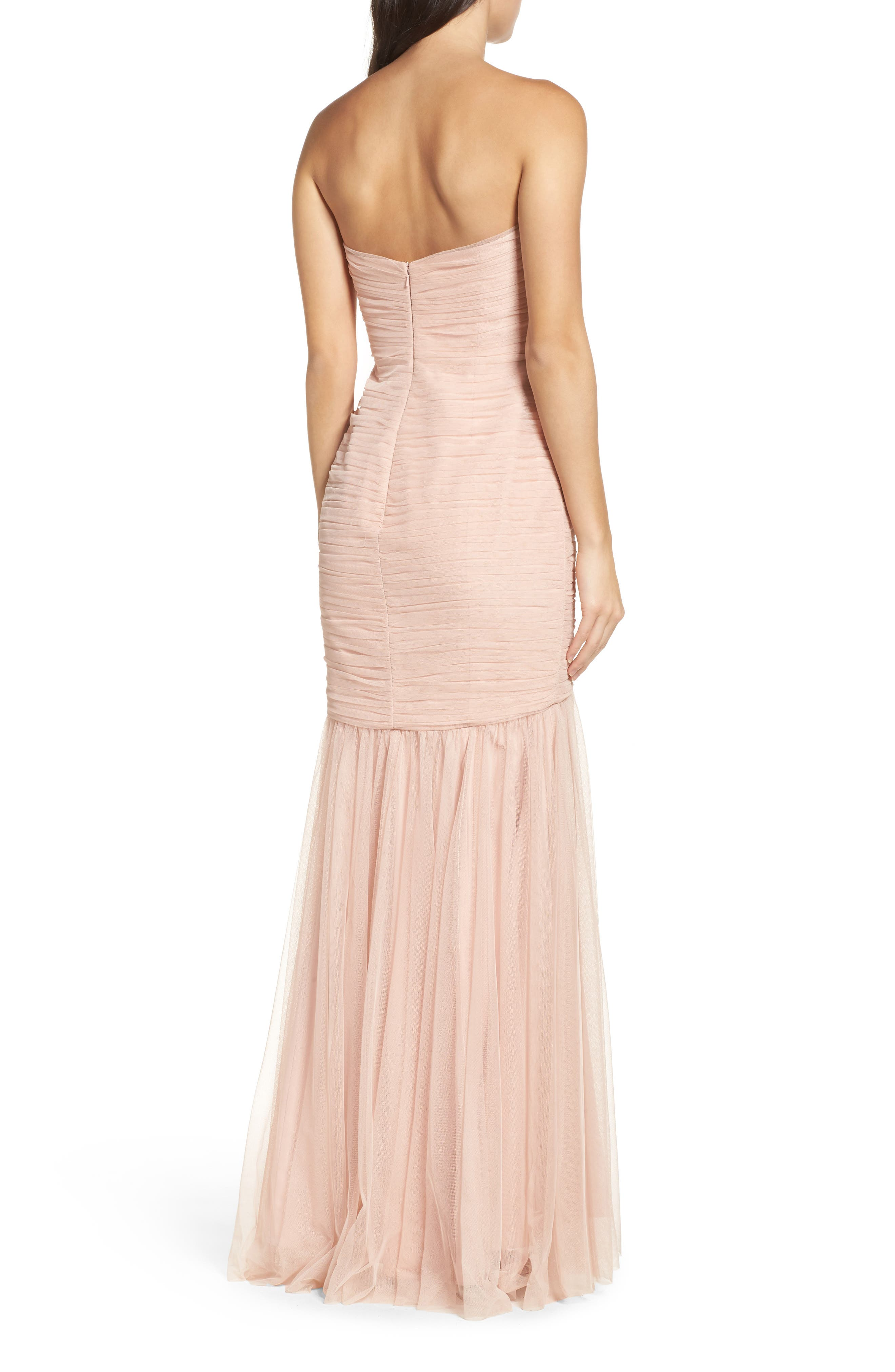 Strapless Crinkle Chiffon Gown,                             Alternate thumbnail 43, color,