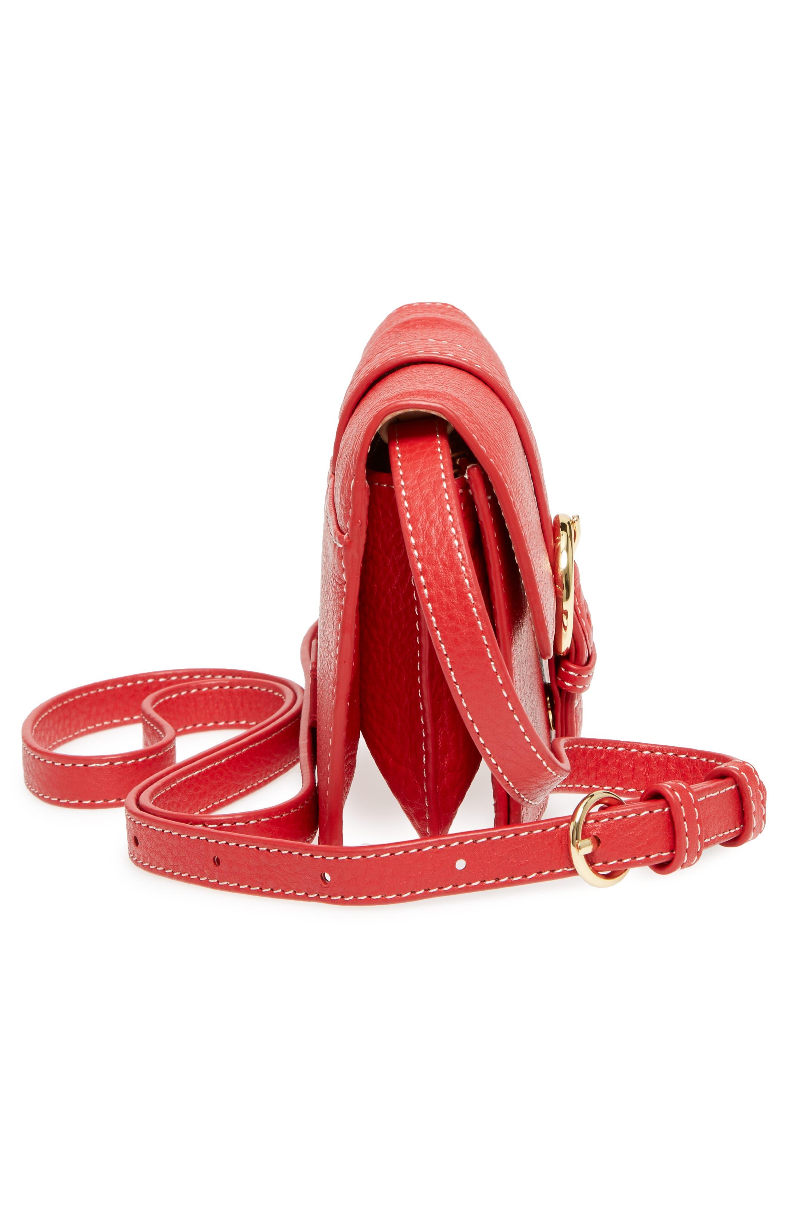 Calfskin Leather Crossbody Wallet,                             Alternate thumbnail 20, color,