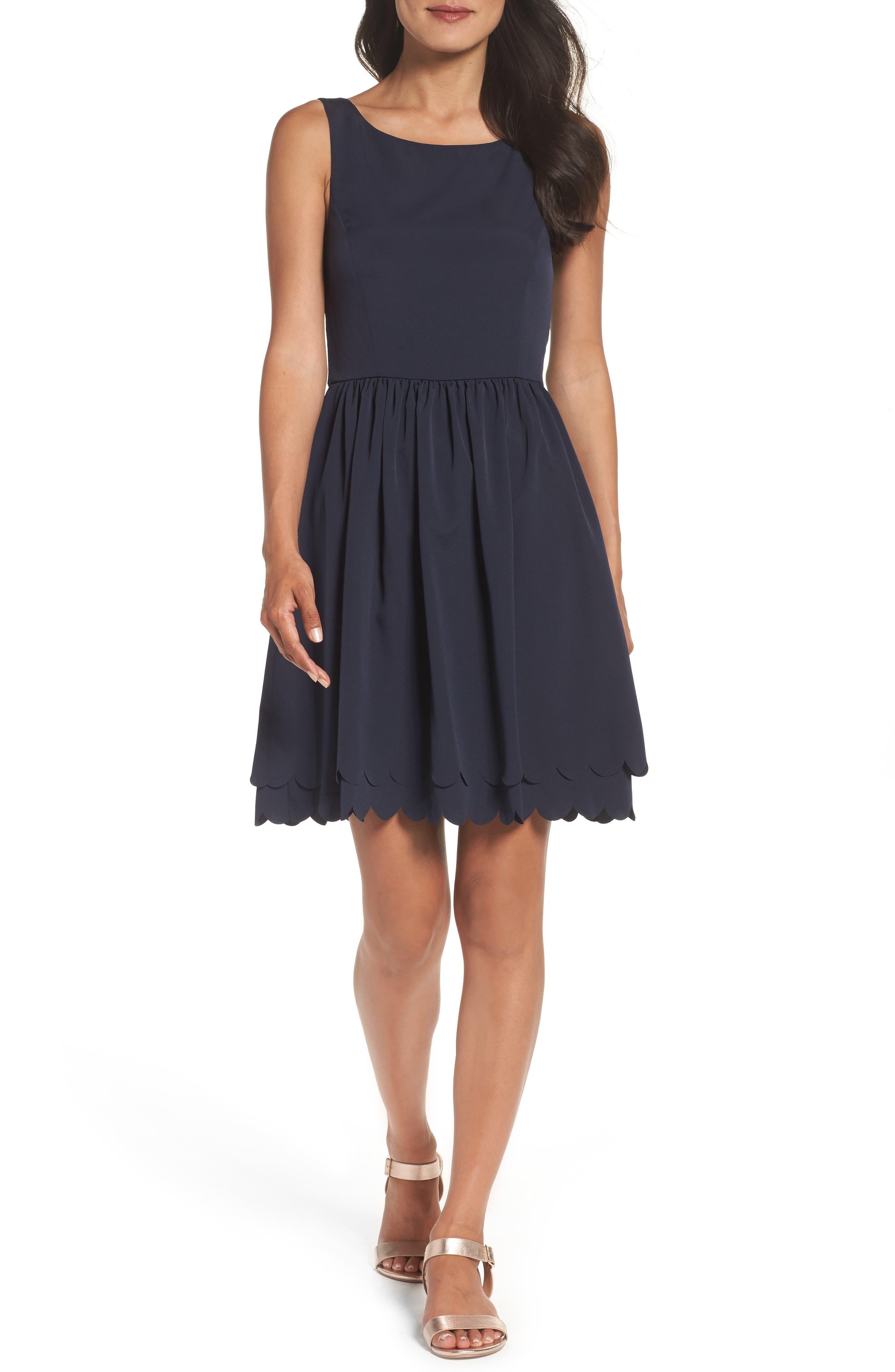 Fit & Flare Dress,                             Main thumbnail 1, color,                             410