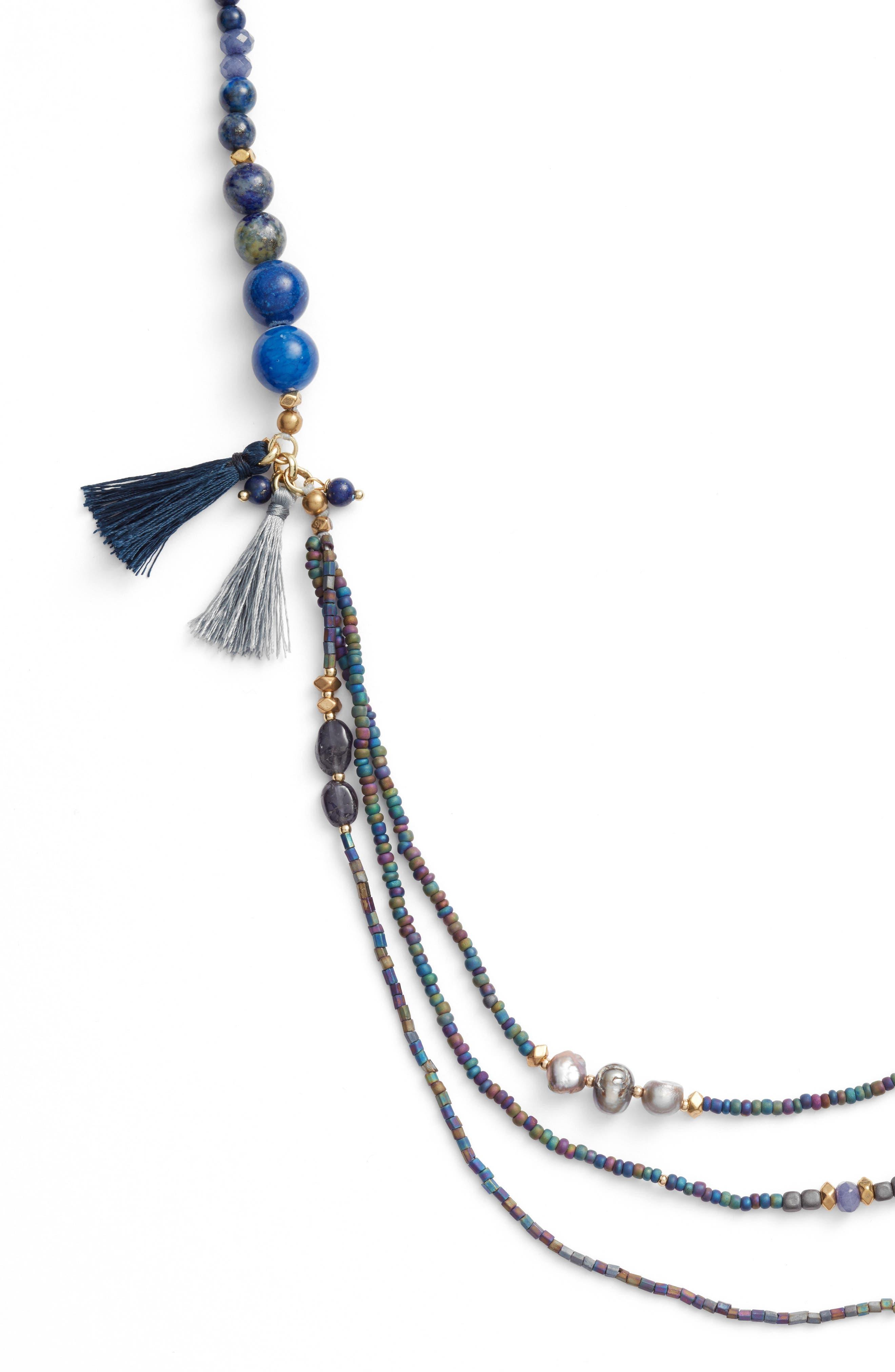 Konia Multistrand Tassel Necklace,                             Alternate thumbnail 2, color,                             400