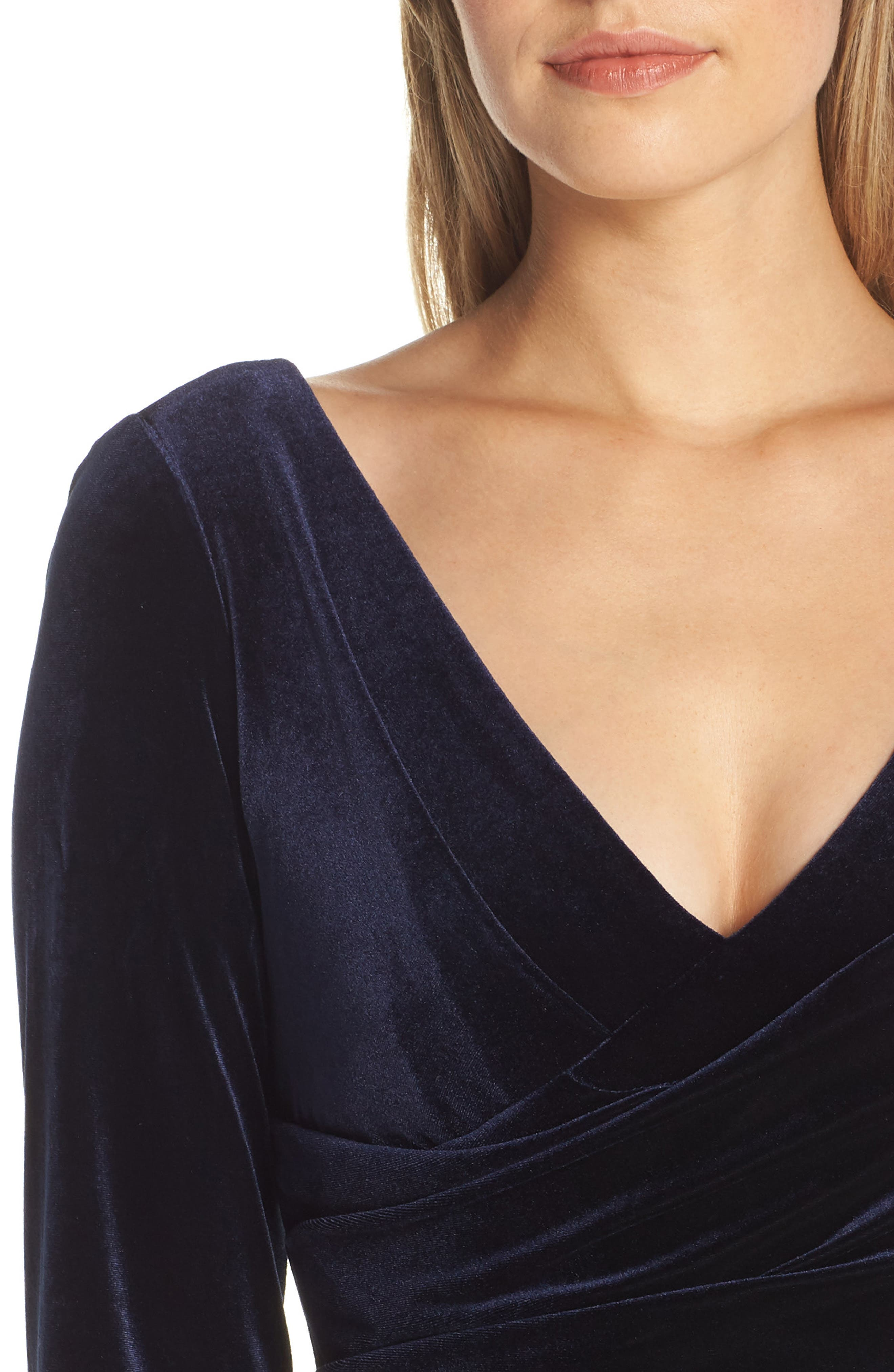 Ruched Dress,                             Alternate thumbnail 4, color,                             NAVY