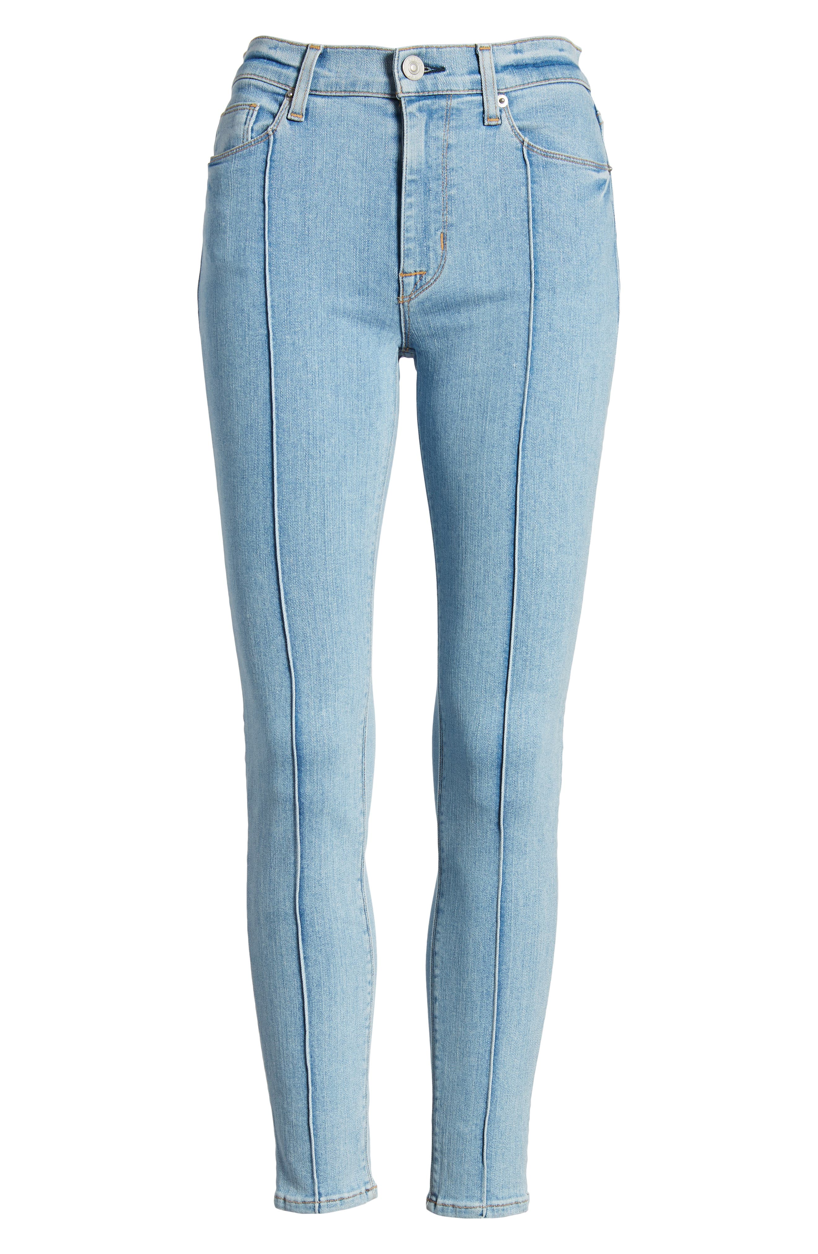 Barbara High Waist Super Skinny Jeans,                             Alternate thumbnail 7, color,                             450