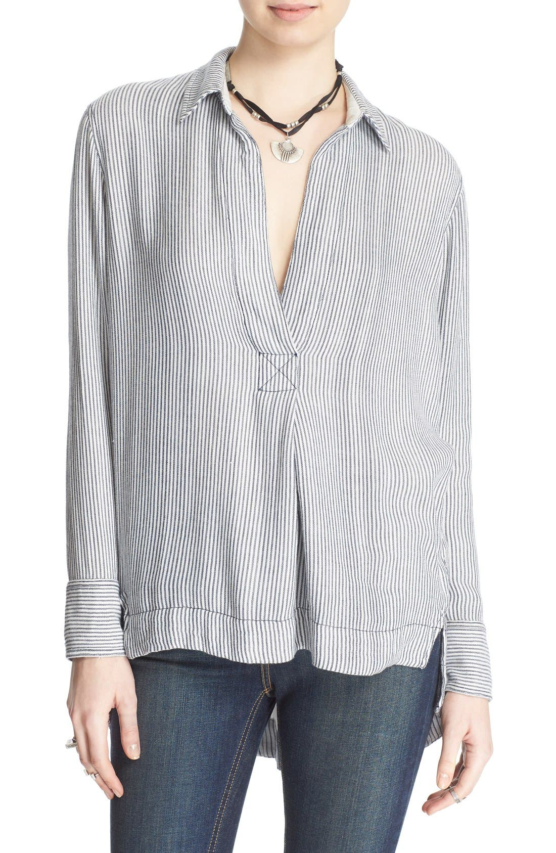 'On the Road' Stripe Tunic Top,                             Main thumbnail 1, color,                             020