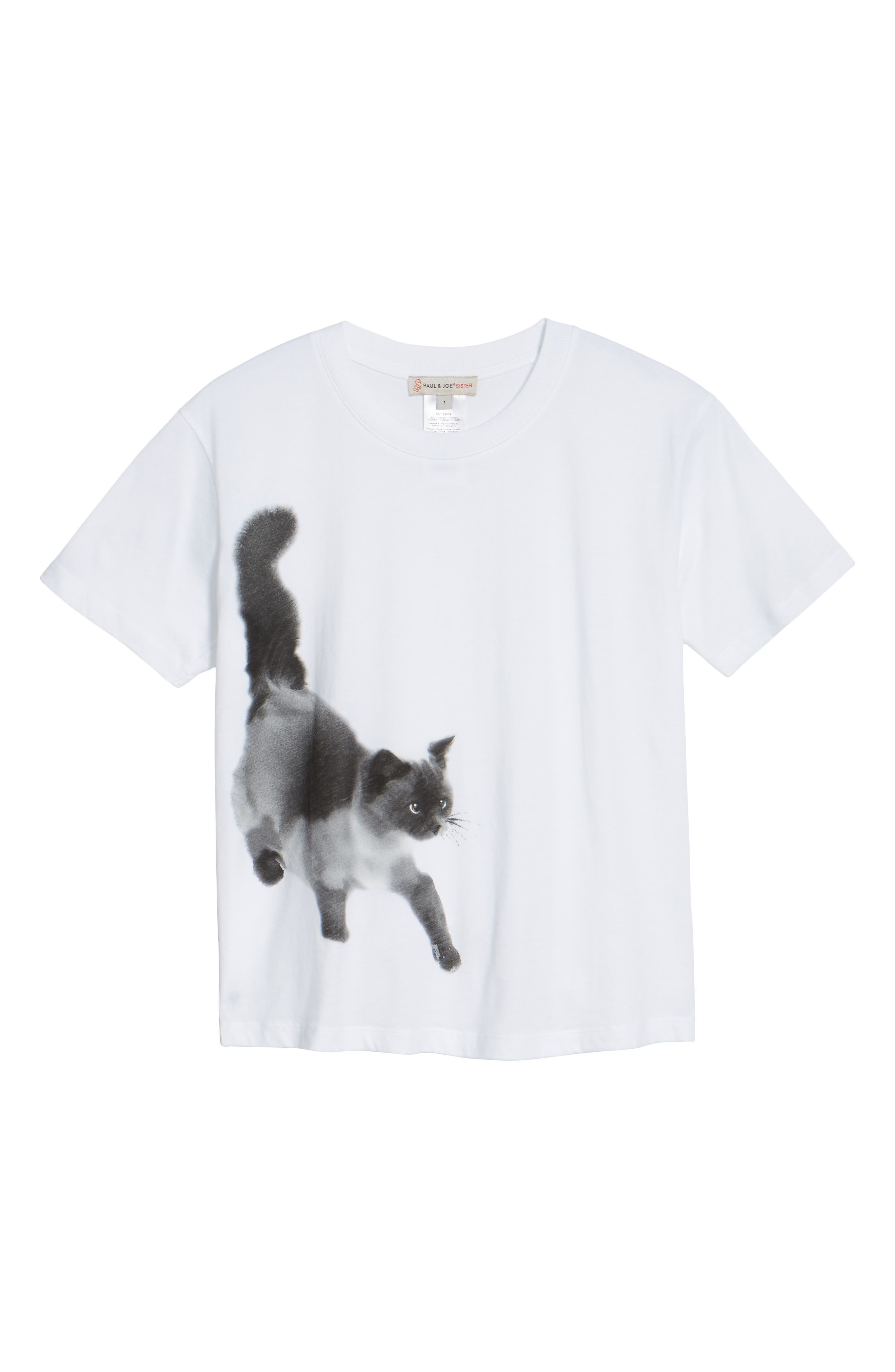 Cat Print Graphic Tee,                             Alternate thumbnail 11, color,
