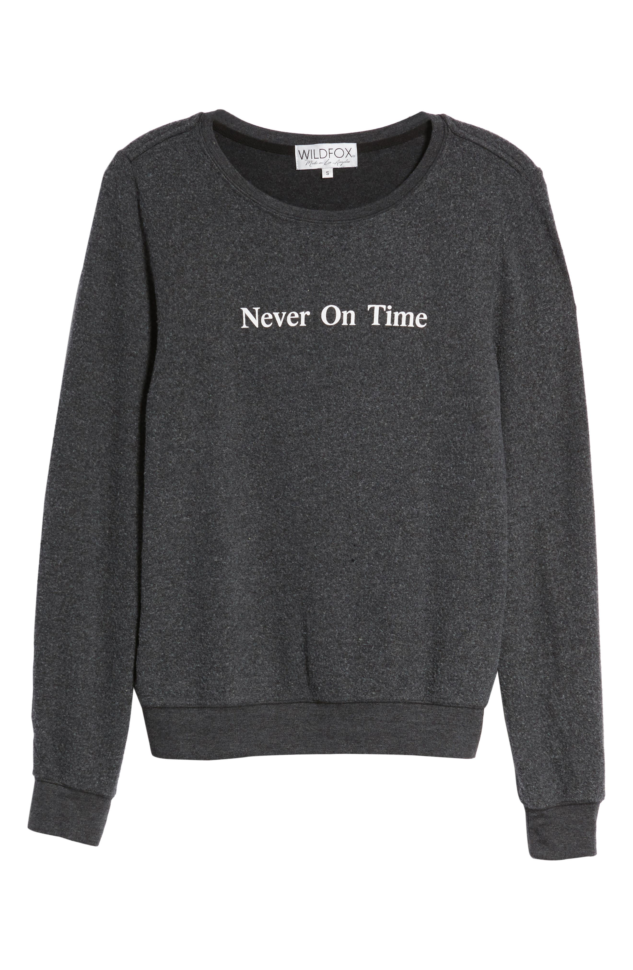 Never on Time Baggy Beach Jumper Pullover,                             Alternate thumbnail 7, color,                             001
