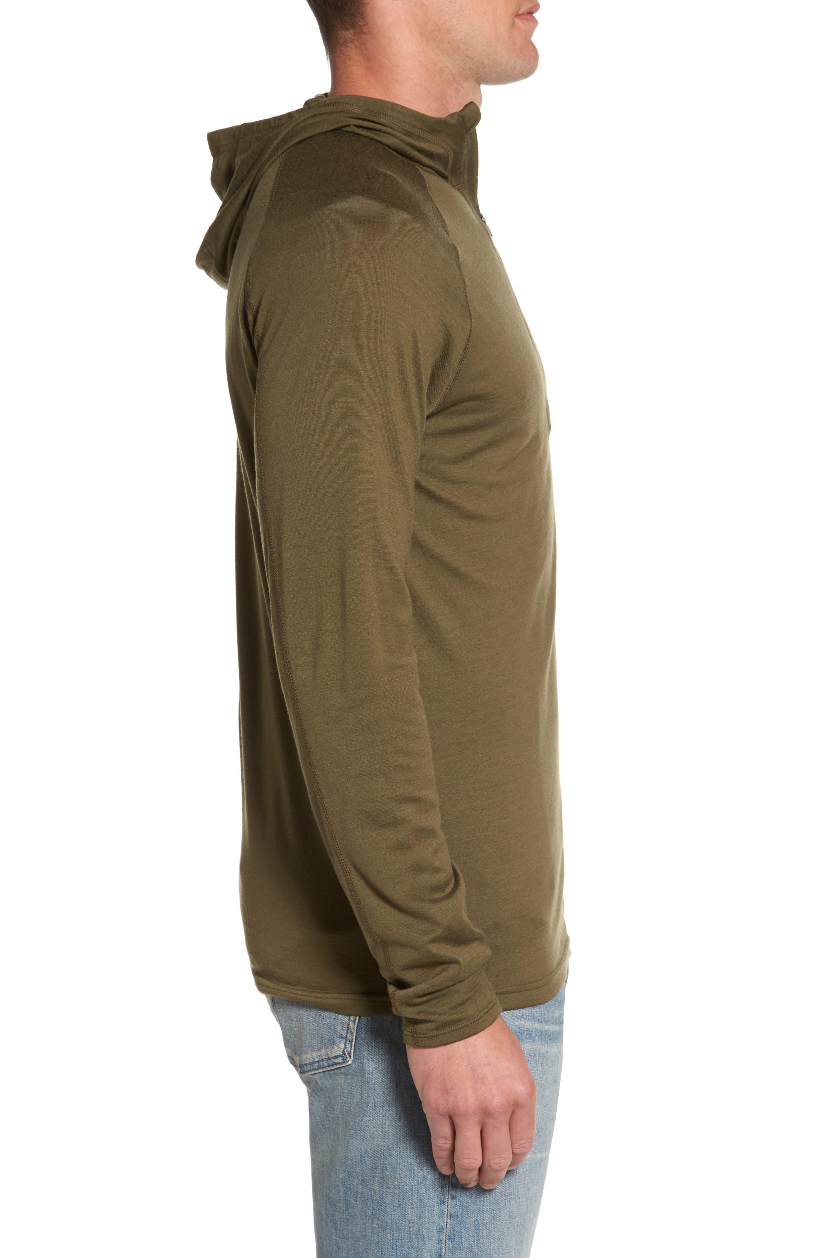 'Indie' Merino Wool Quarter Zip Hoodie,                             Alternate thumbnail 3, color,                             250
