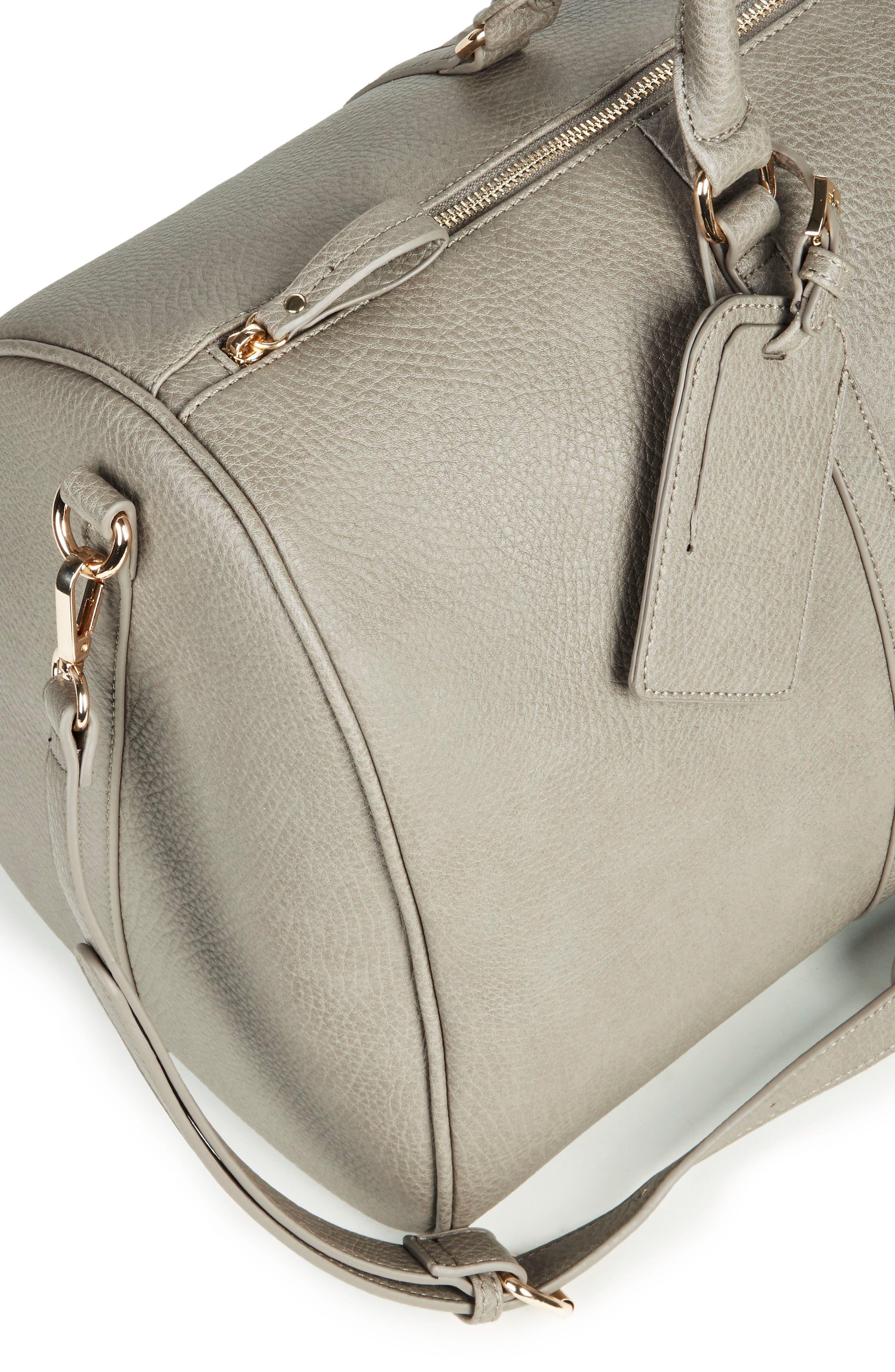 'Lacie' Faux Leather Duffel Bag,                             Alternate thumbnail 7, color,                             022