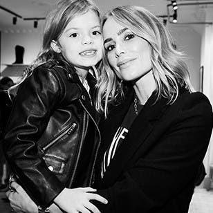 Designer Anine Bing with her daughter.