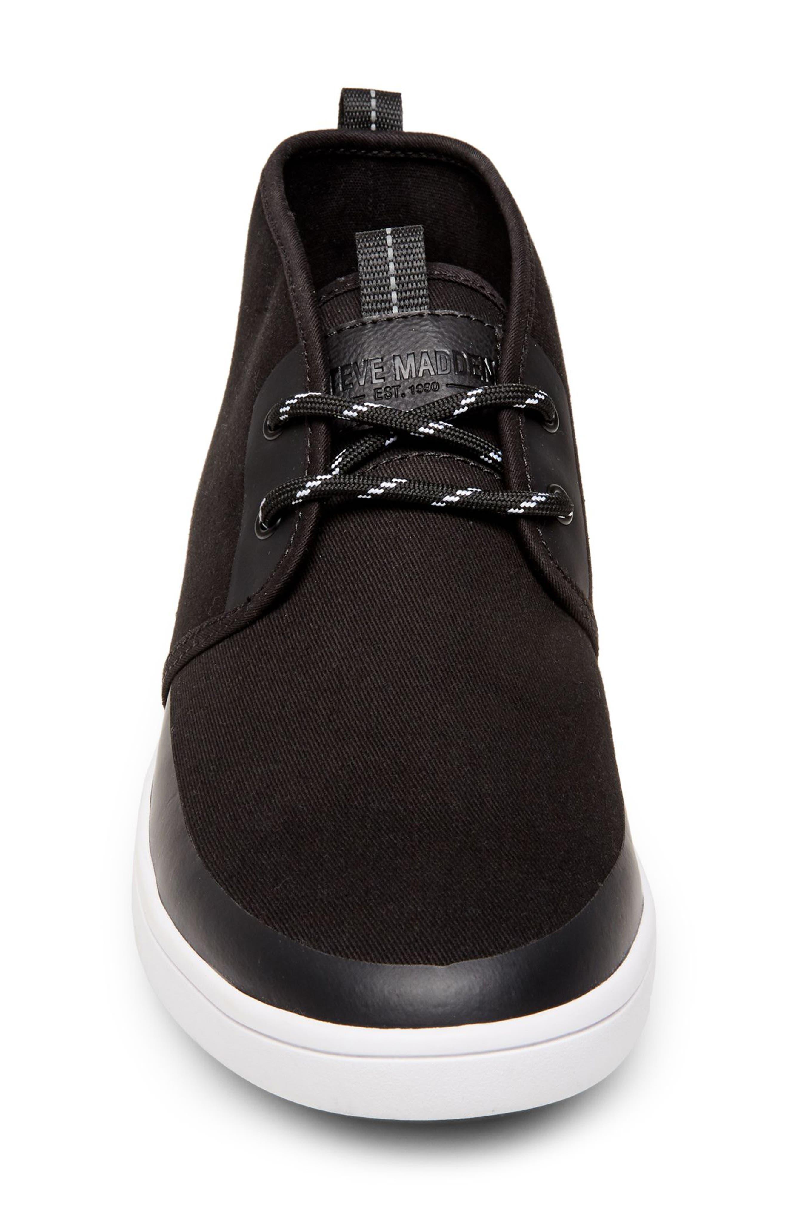 Franklyn Chukka Sneaker,                             Alternate thumbnail 4, color,                             BLACK FABRIC
