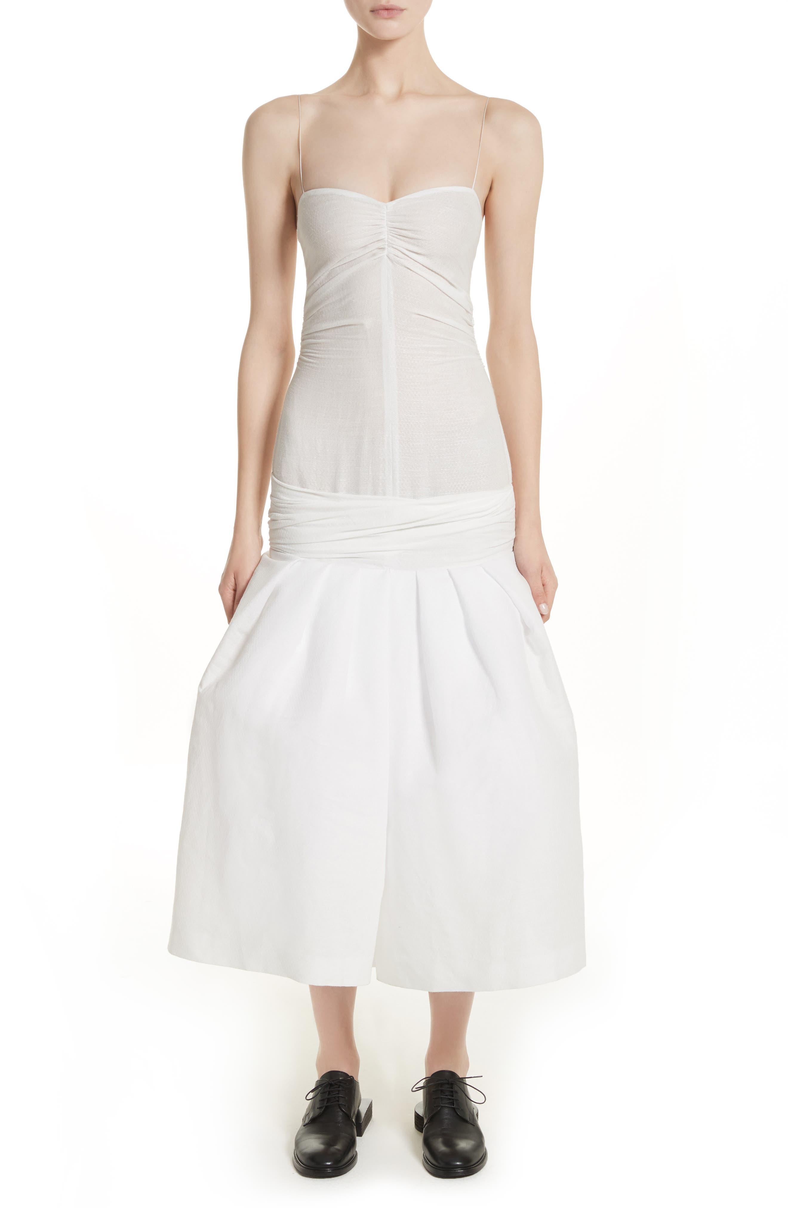 La Robe Limao Linen & Cotton Trumpet Dress,                             Alternate thumbnail 5, color,                             250