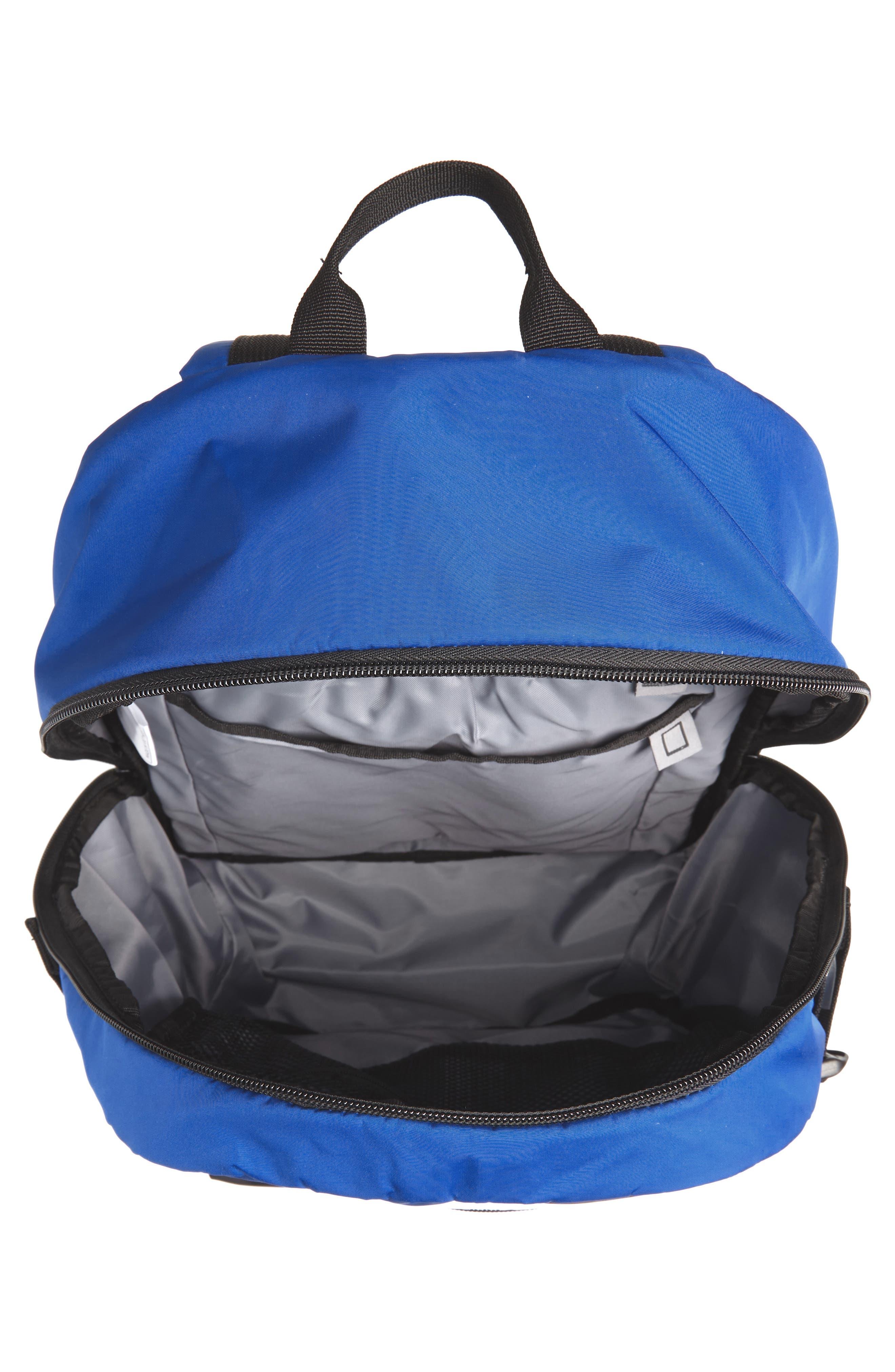 adidas Original EQT Blocked Backpack,                             Alternate thumbnail 4, color,                             COLLEGIATE BLUE/ BLACK/ WHITE