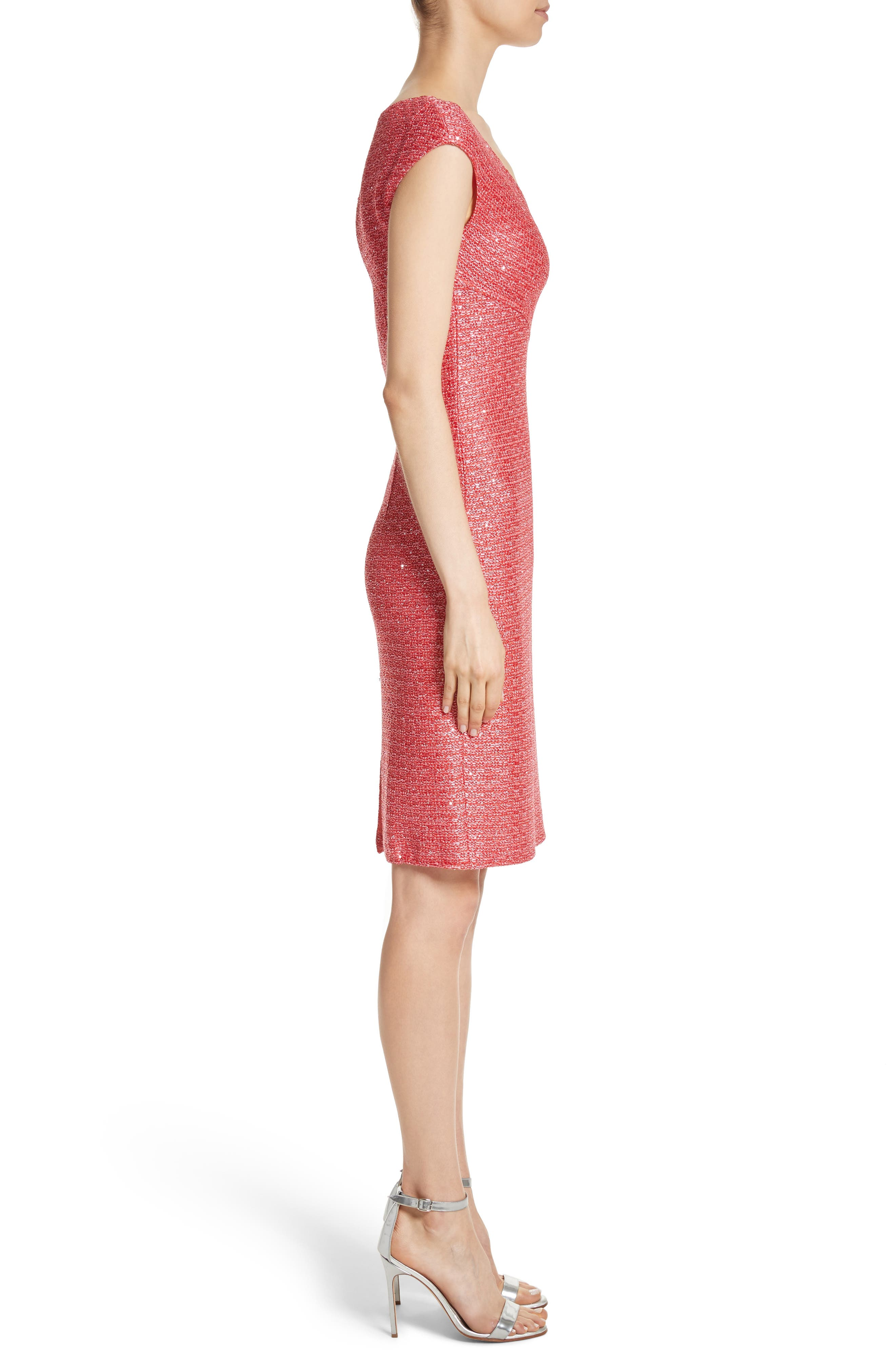 ST. JOHN COLLECTION,                             Hansh Knit Dress,                             Alternate thumbnail 3, color,                             950
