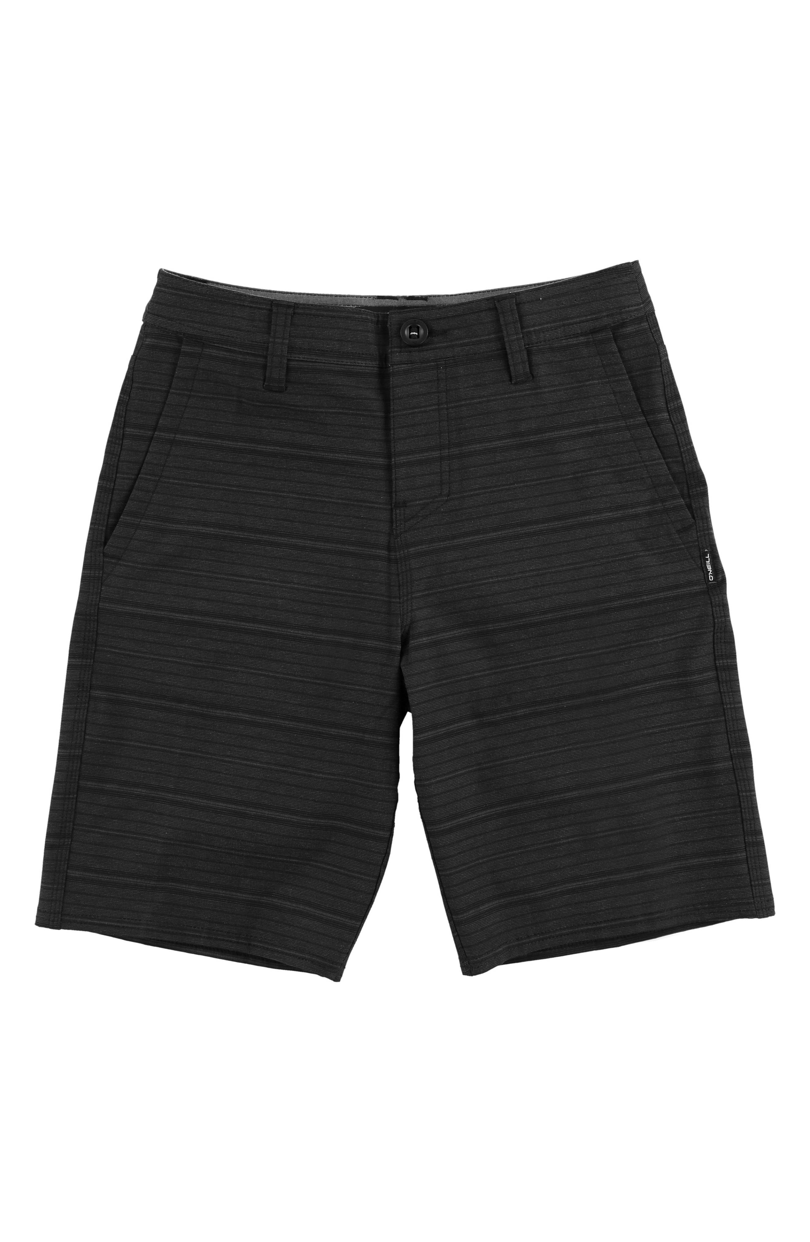 Locked Stripe Hybrid Shorts,                             Main thumbnail 1, color,                             ASPHALT