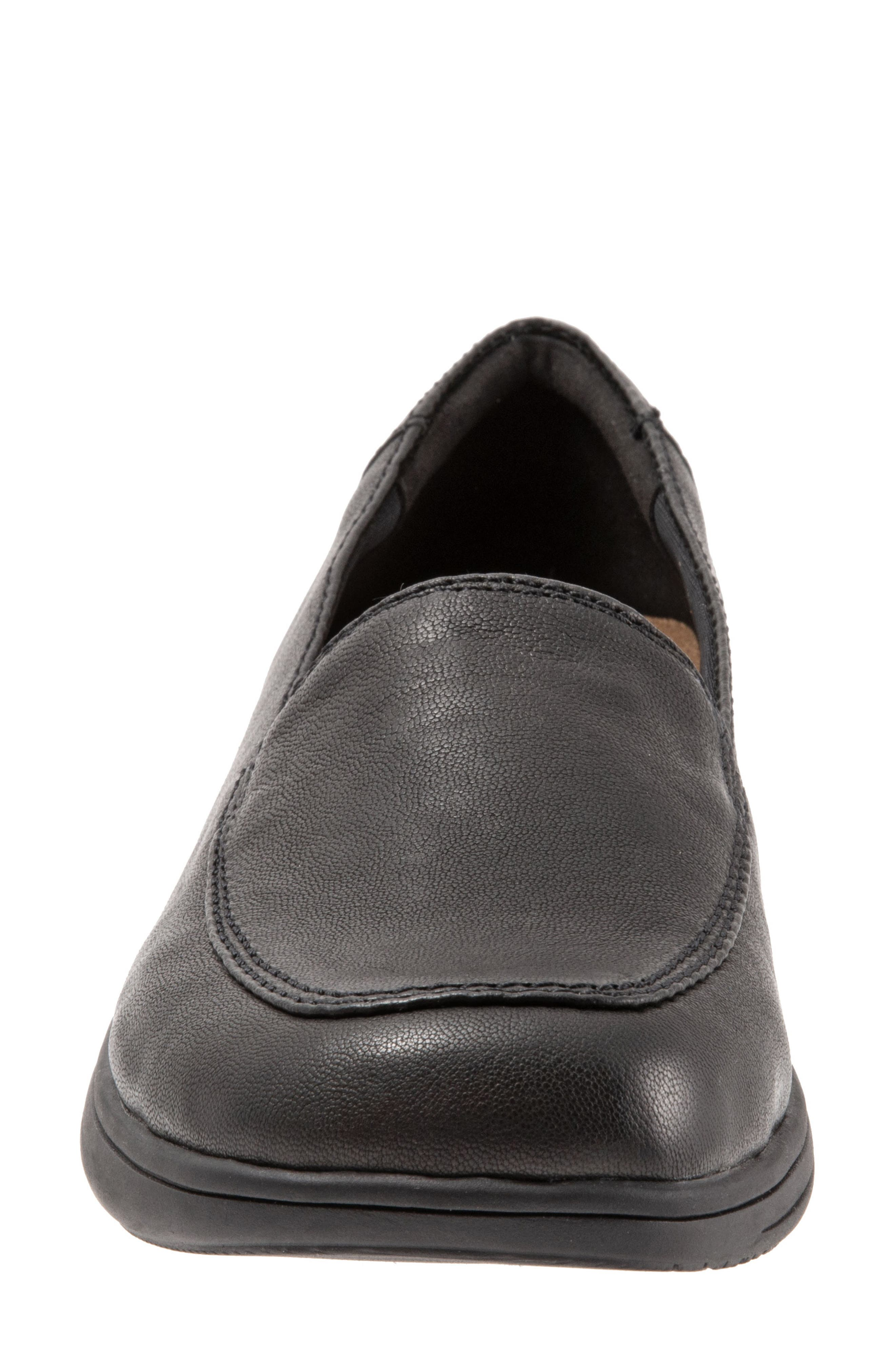 Jacob Loafer,                             Alternate thumbnail 4, color,                             BLACK LEATHER