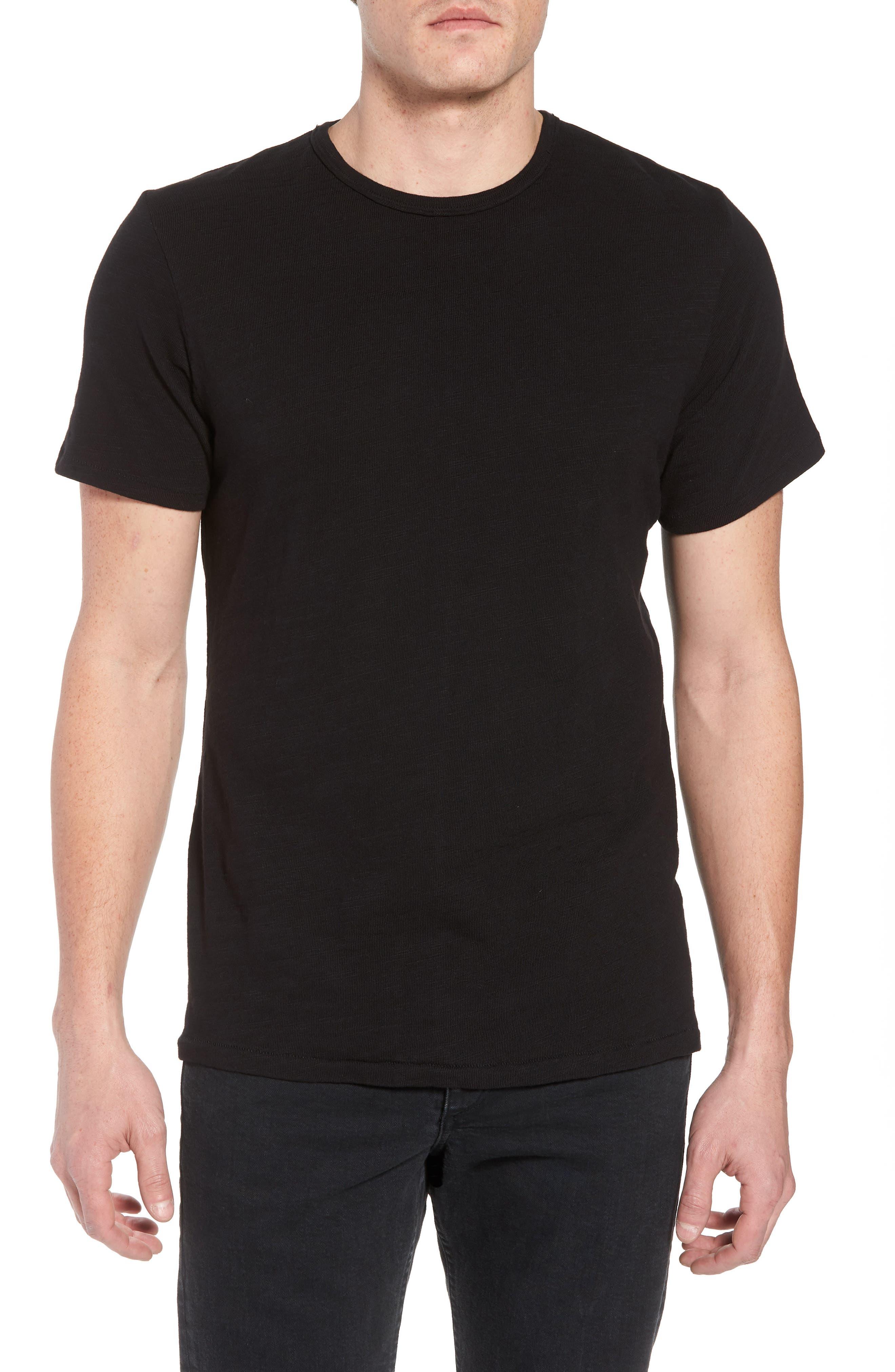 Classic Crewneck Cotton T-Shirt,                         Main,                         color, JET BLACK