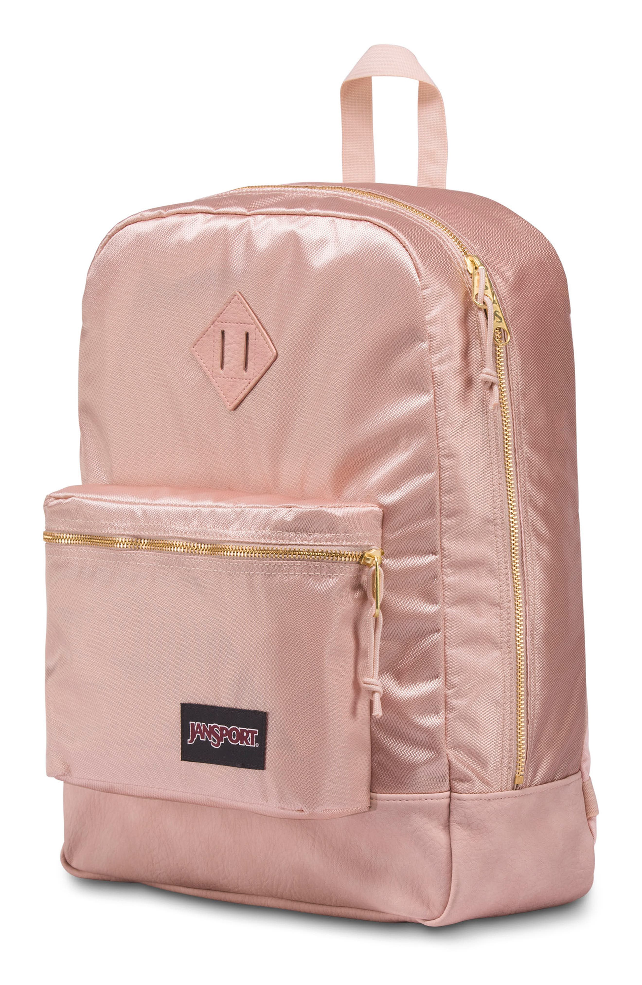 Super FX Gym Backpack,                             Alternate thumbnail 3, color,                             ROSE SMOKE GOLD