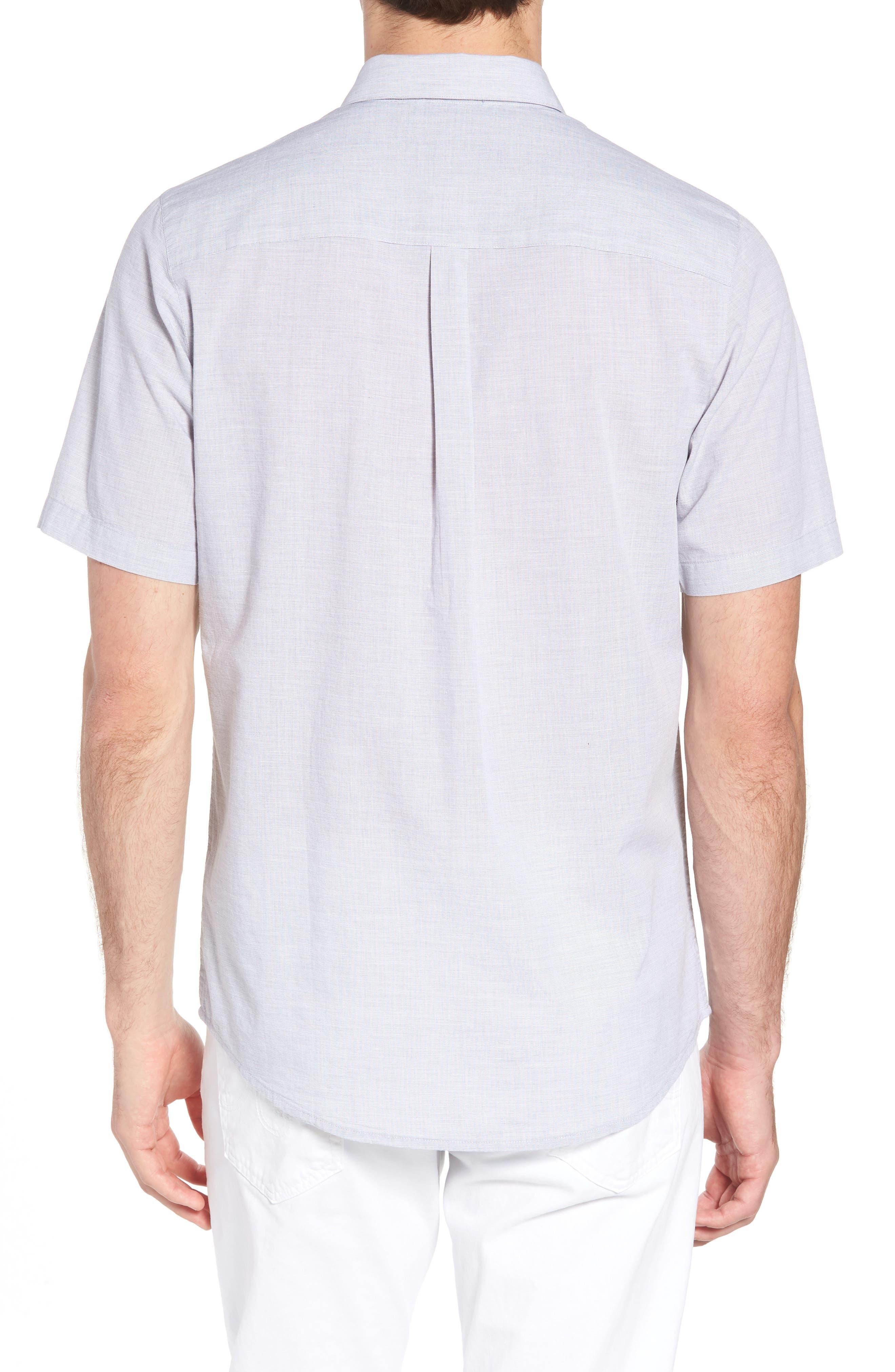 Oscar Regular Fit Sport Shirt,                             Alternate thumbnail 2, color,                             HEATHER GRASILLE