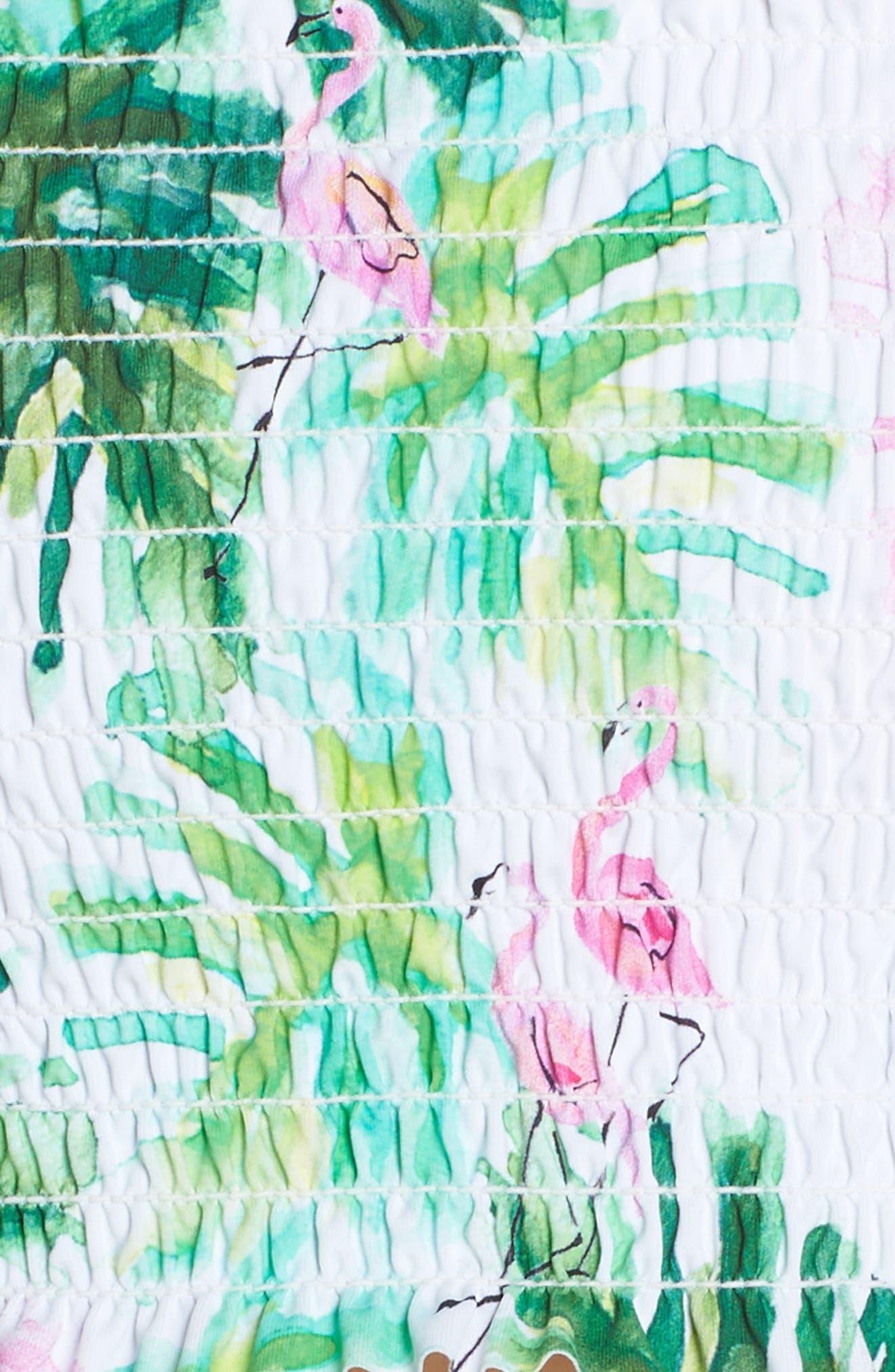 Smocked Off the Shoulder Bikini Top,                             Alternate thumbnail 6, color,                             MINGOS