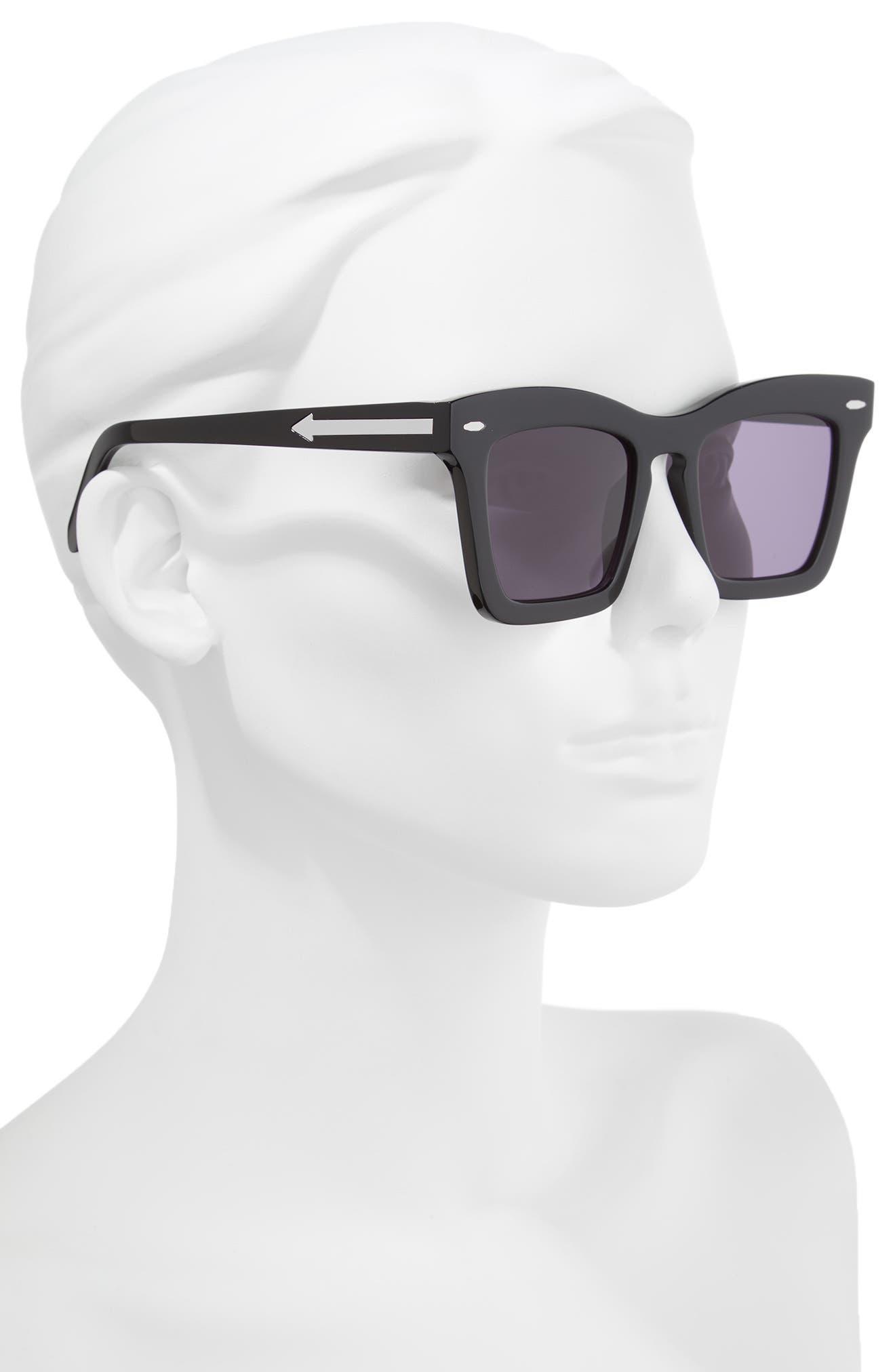 Banks 51mm Rectangular Sunglasses,                             Alternate thumbnail 2, color,                             BLACK