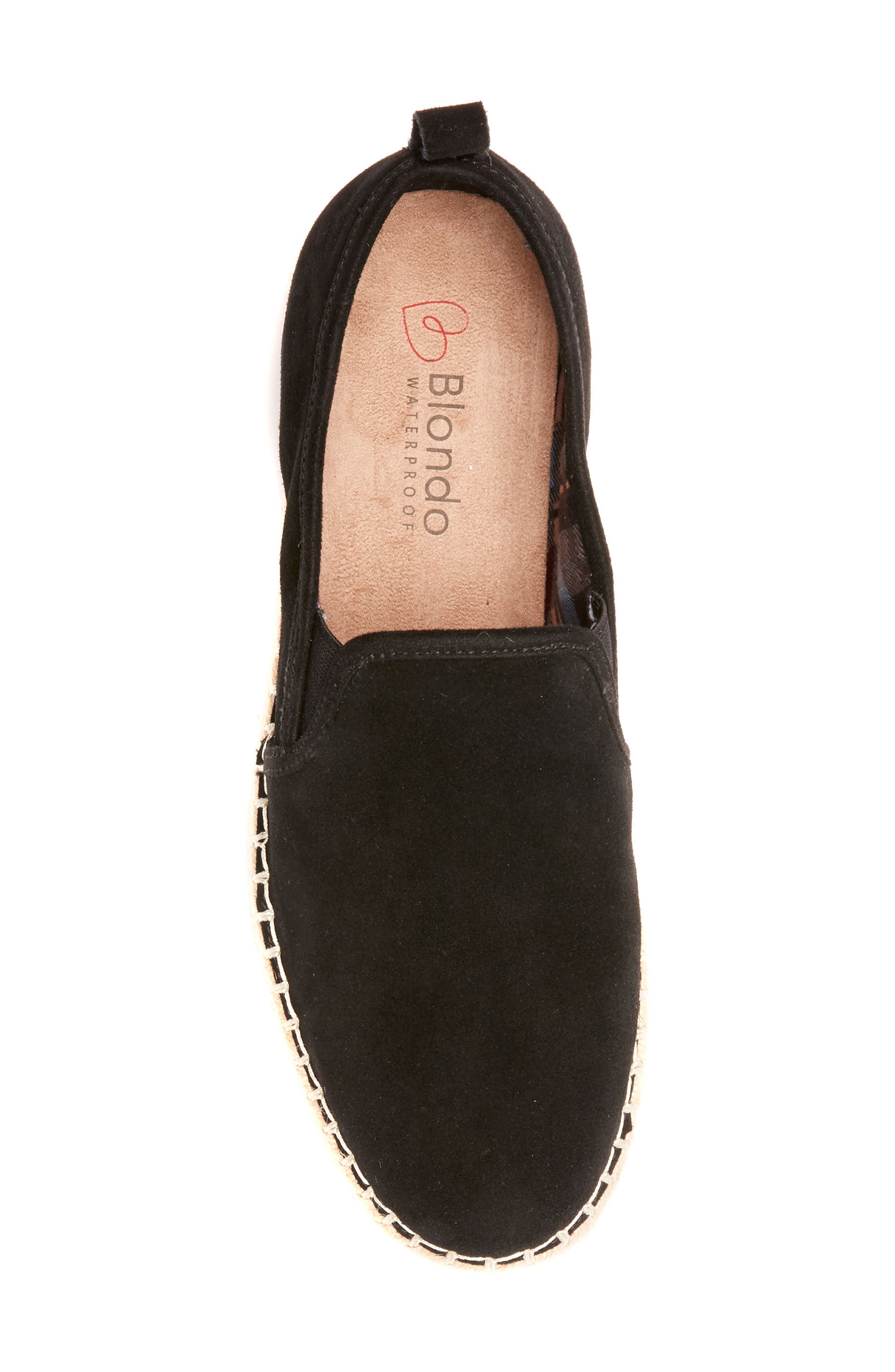 Basha Waterproof Espadrille Flat,                             Alternate thumbnail 5, color,                             015